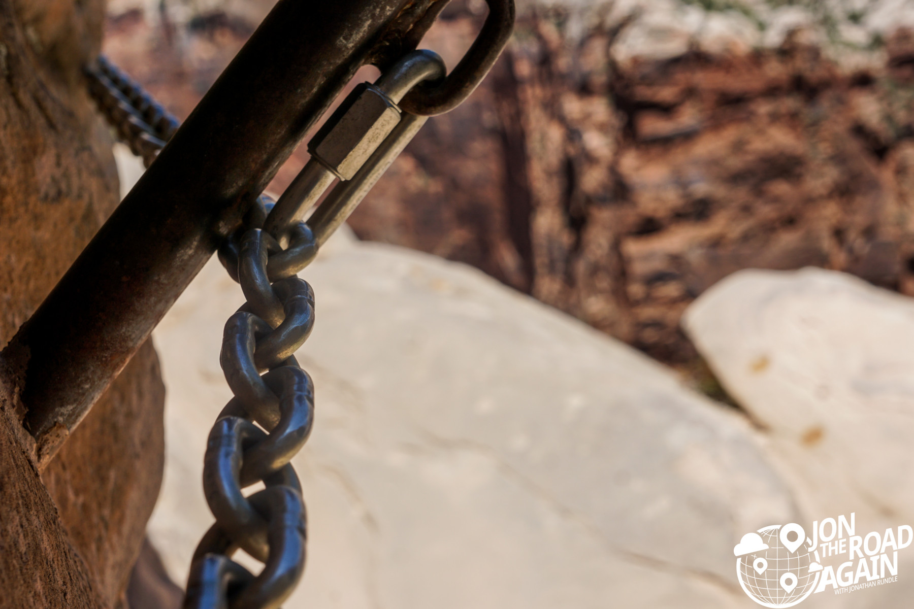 Chains on Hidden Canyon Trail