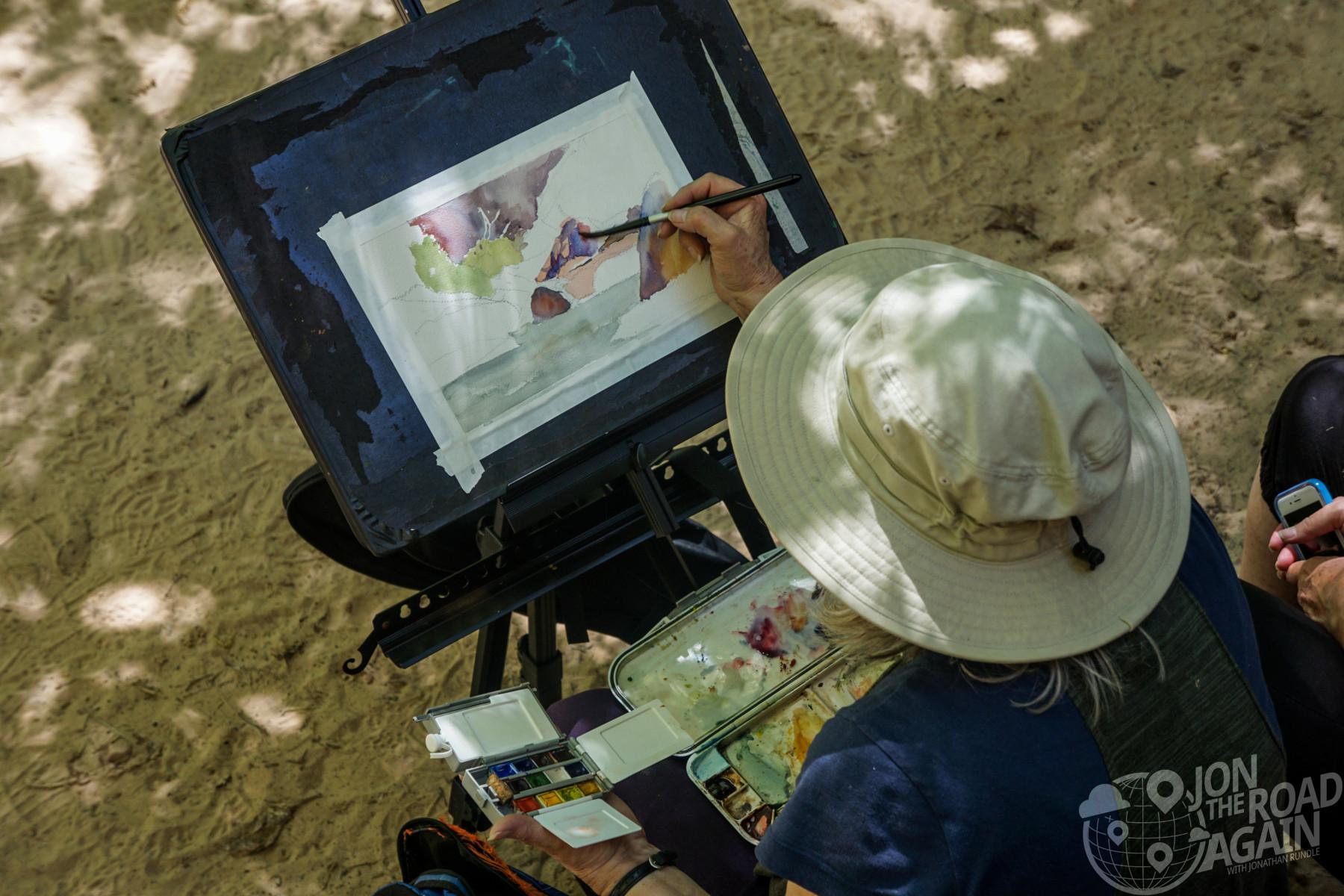 Watercolor Zion National Park