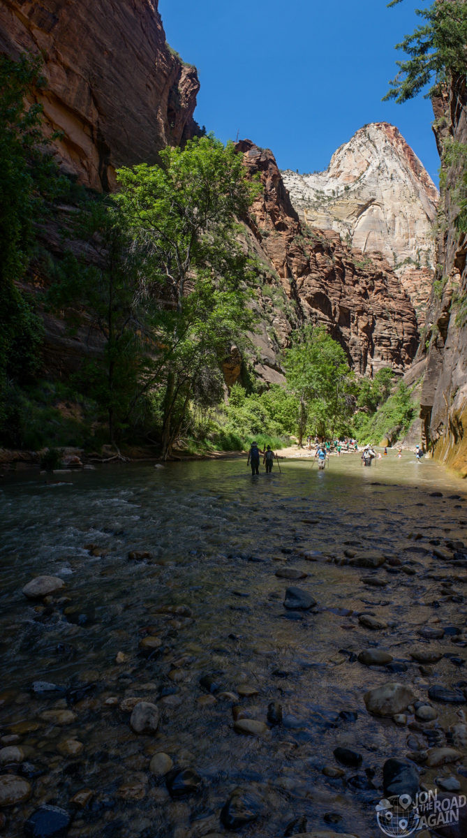 Start of the Narrows in Zion
