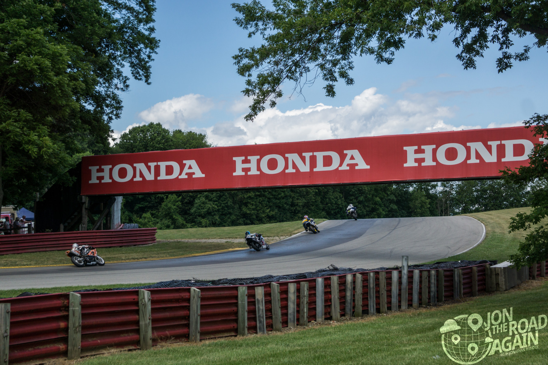motorcycles under the bridge at mid-ohio