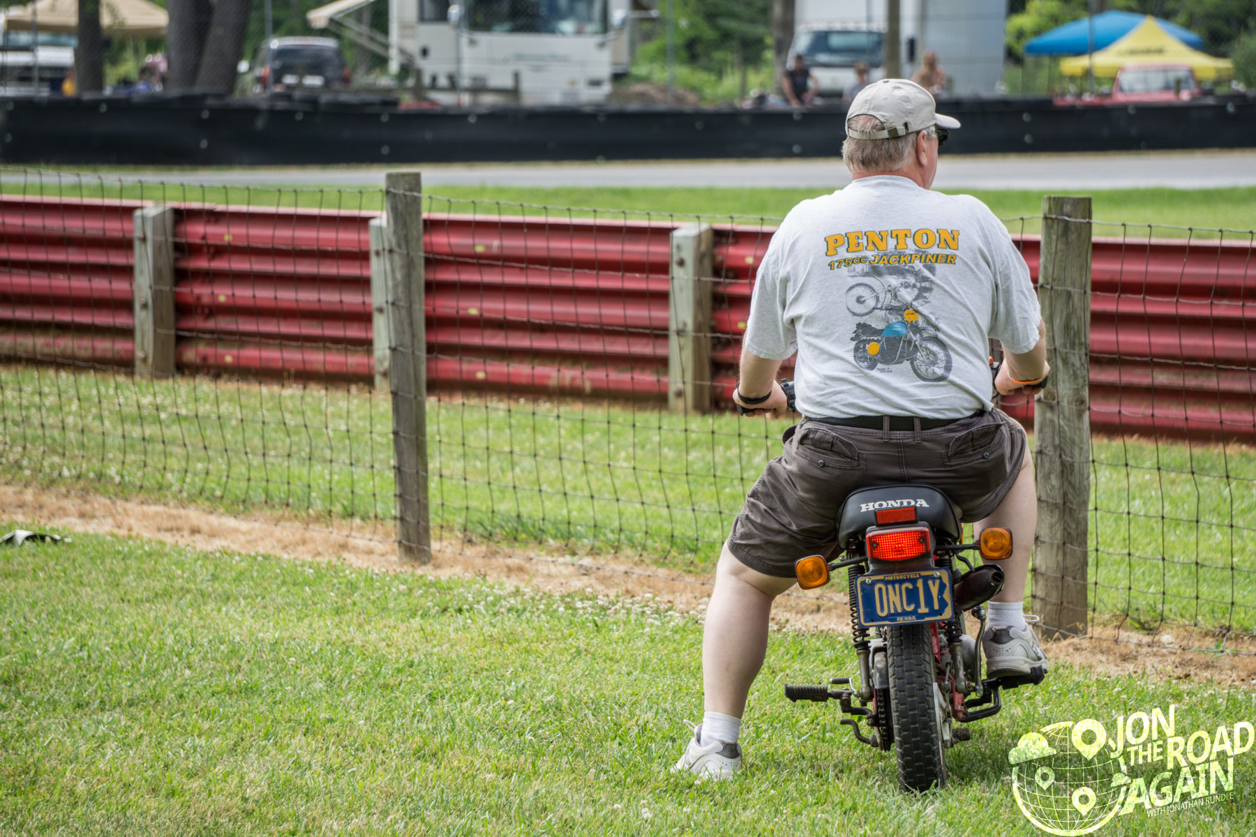 Watching Motorcycle racing at mid-ohio at AMA Vintage Motorcycle Days