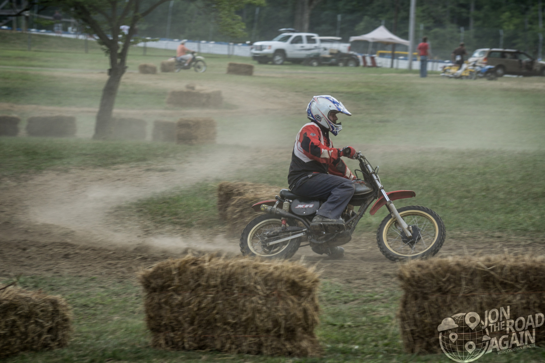MX Motorcycle racing at mid-ohio at AMA Vintage Motorcycle Days