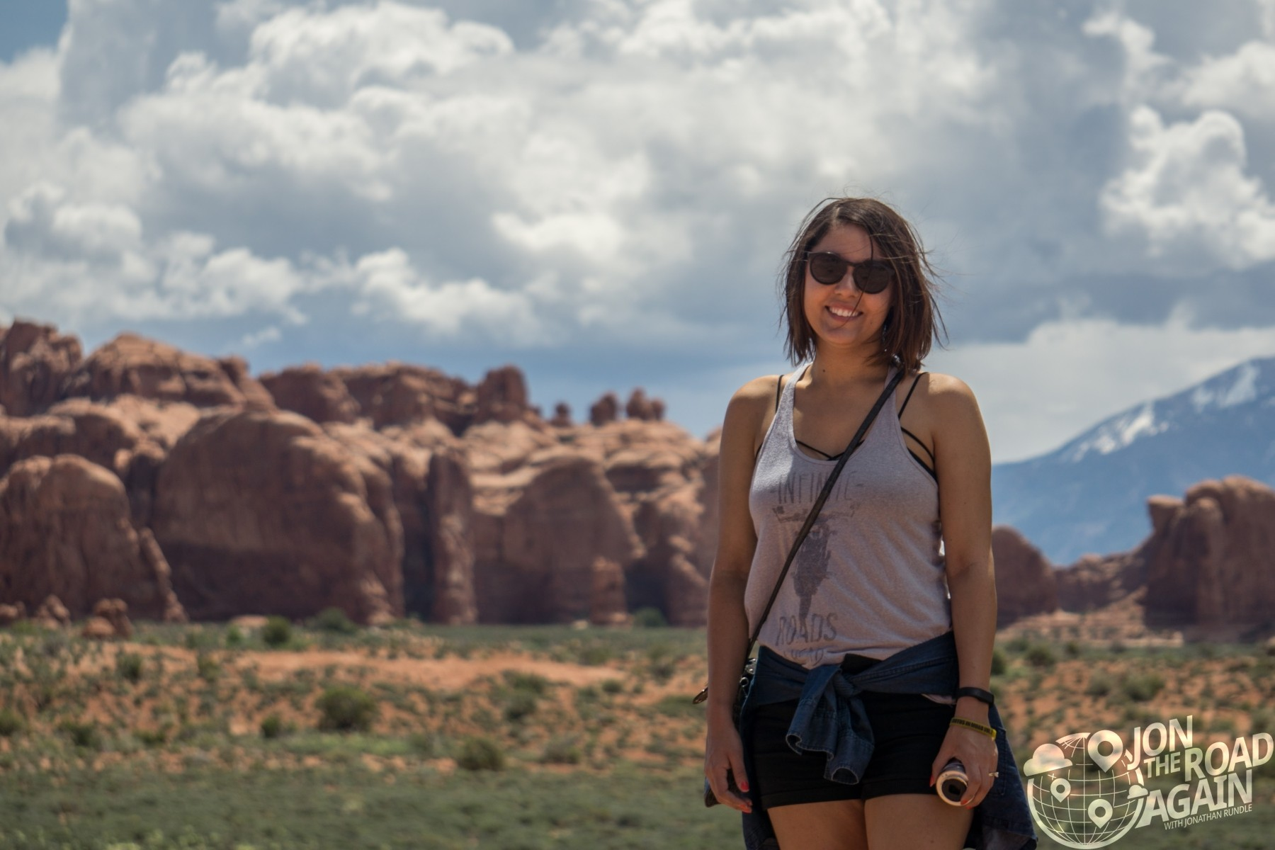 Whitney at Arches National Park