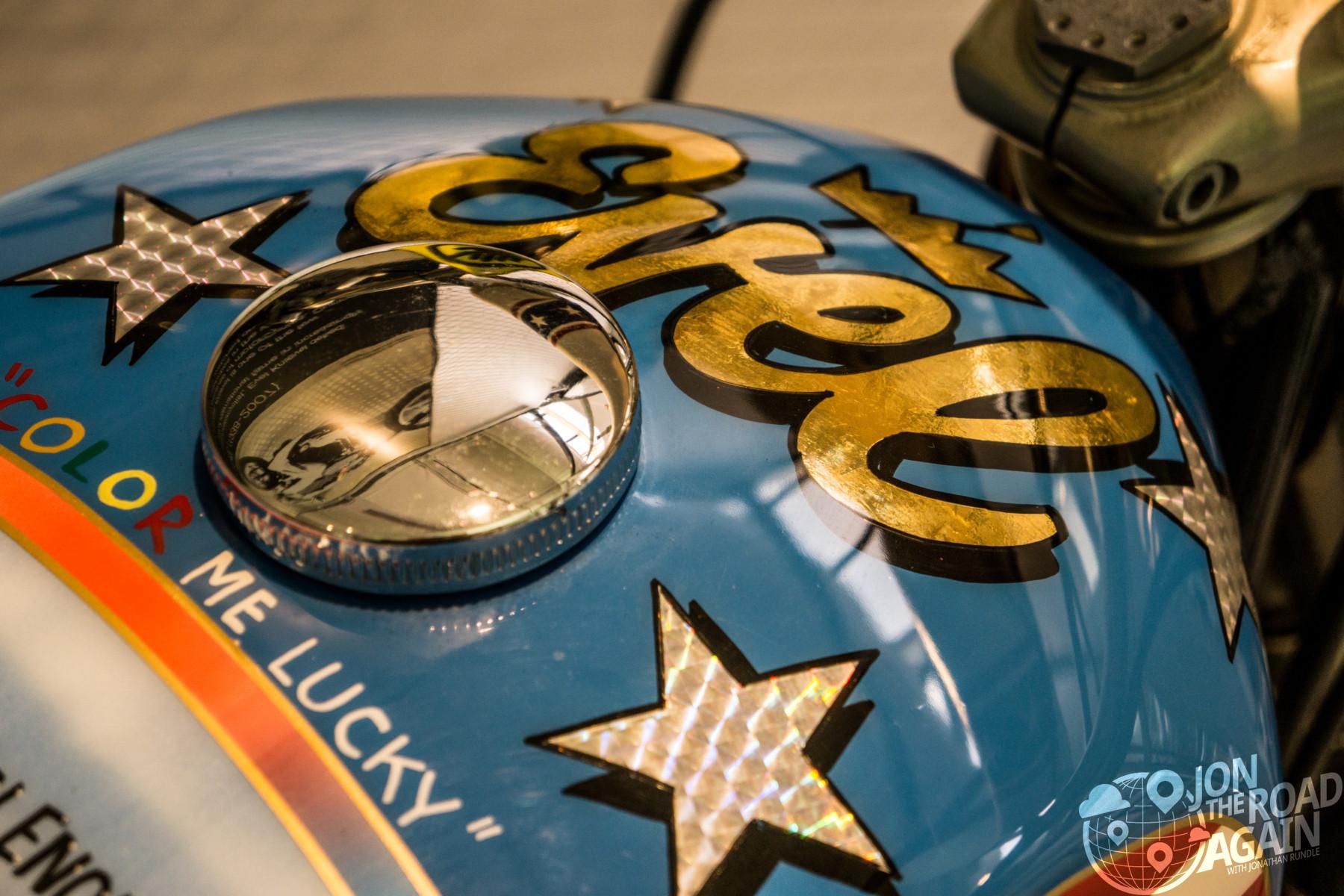 Evel Knievel Harley Motorcycle Gas Tank