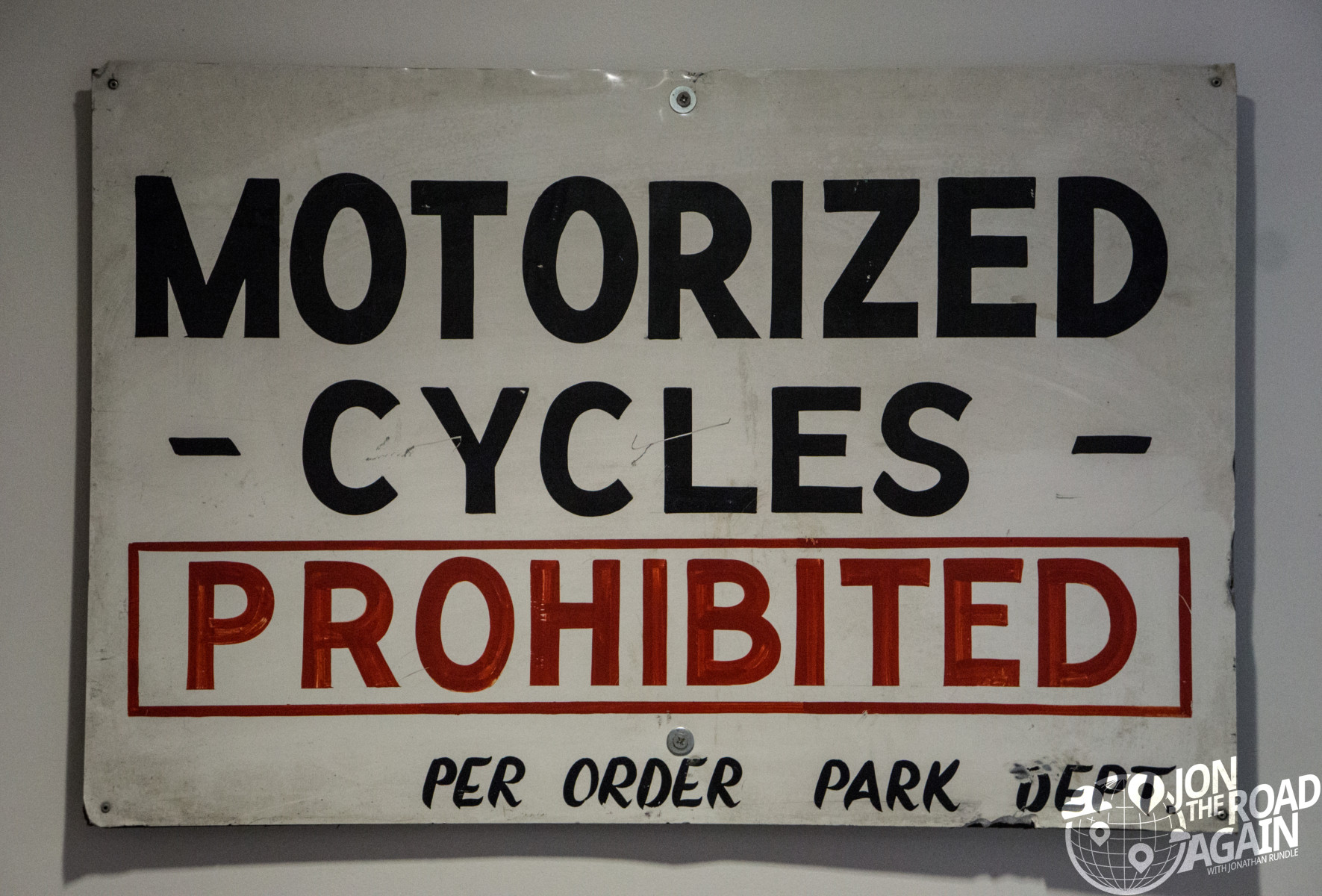 AMA Motorcycle Museum Motorcycles Prohibited