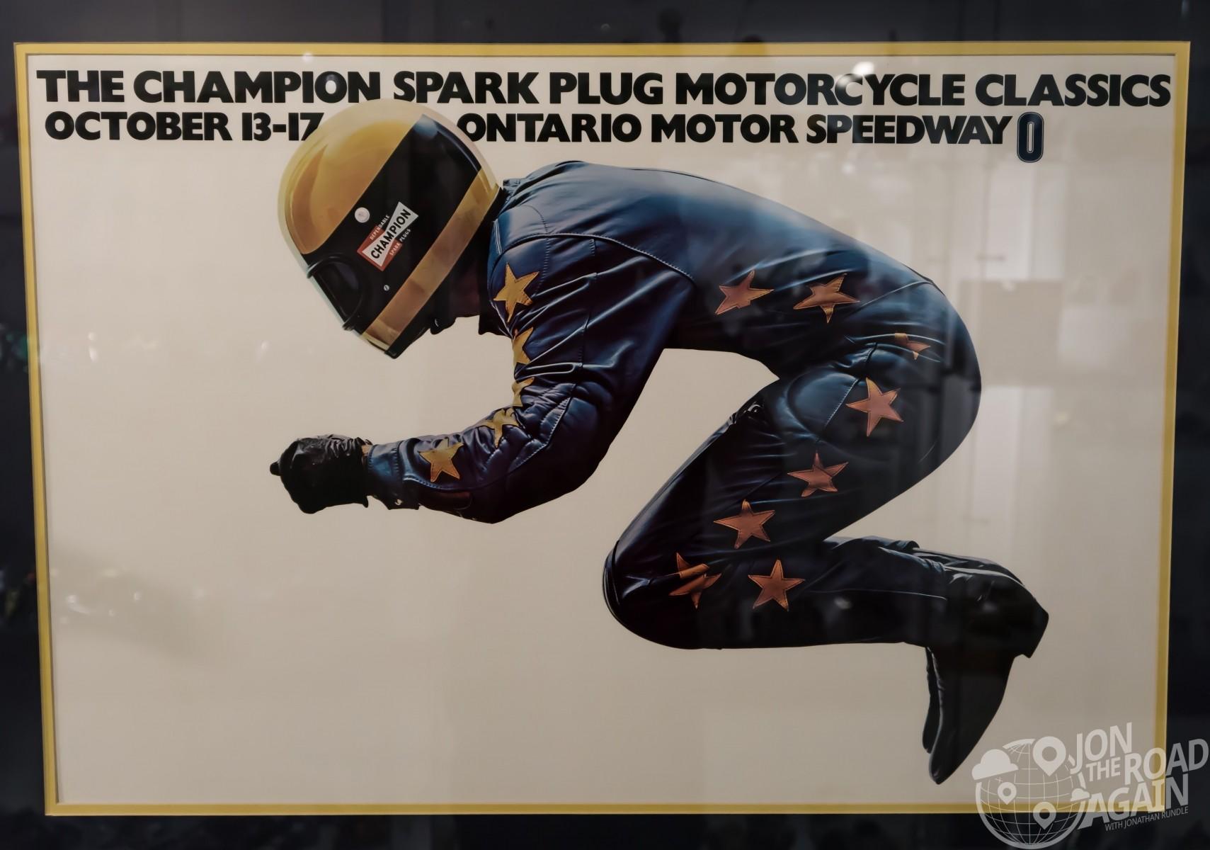 Champion Spark Plug Motorcycle Classics Poster