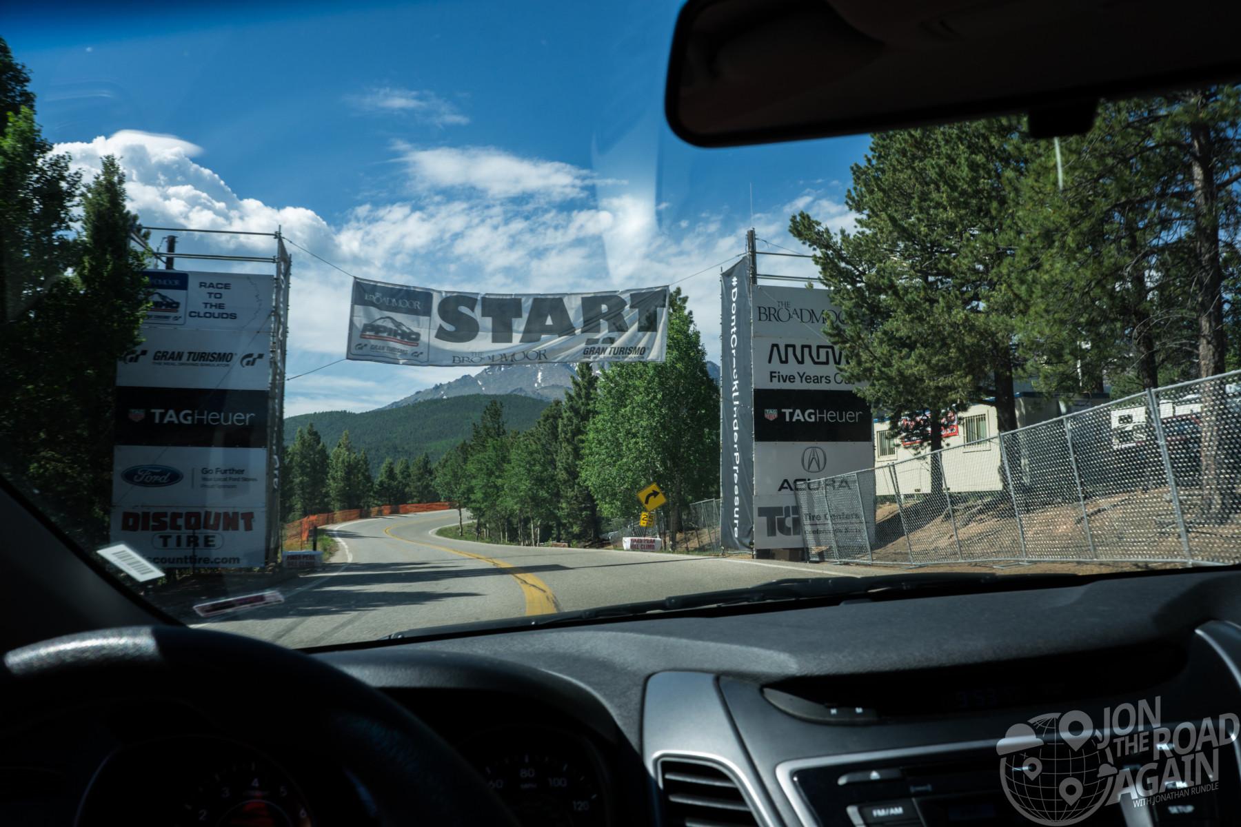 Pikes Peak Start line