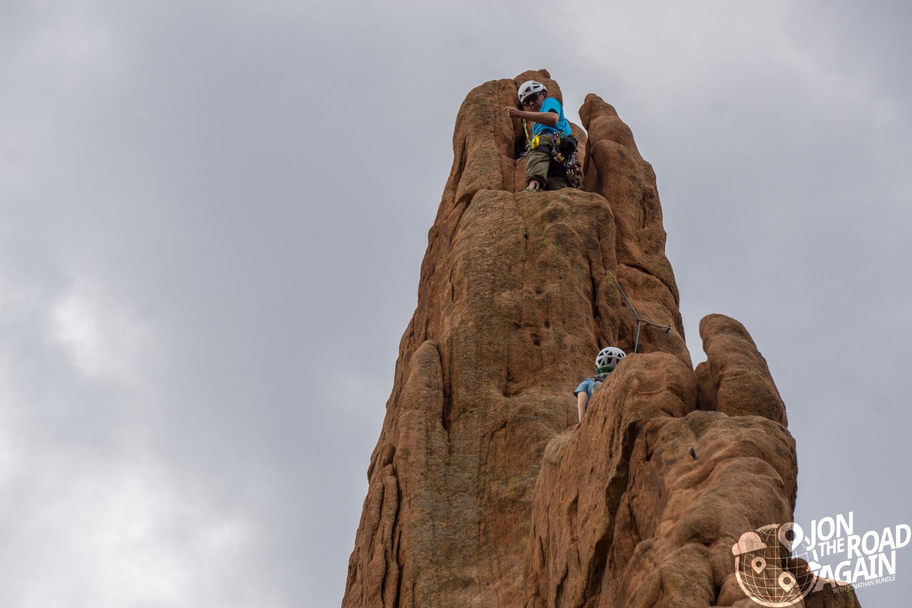Garden of the Gods rock climbers