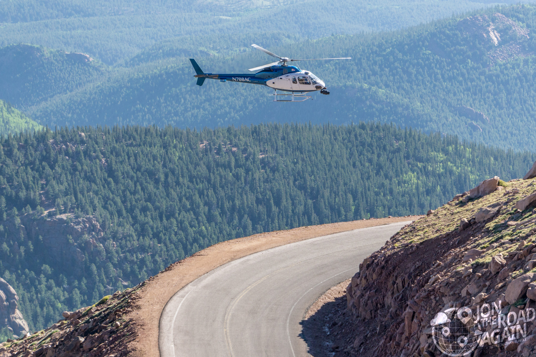 Pikes Peak Hill Climb Helicopter
