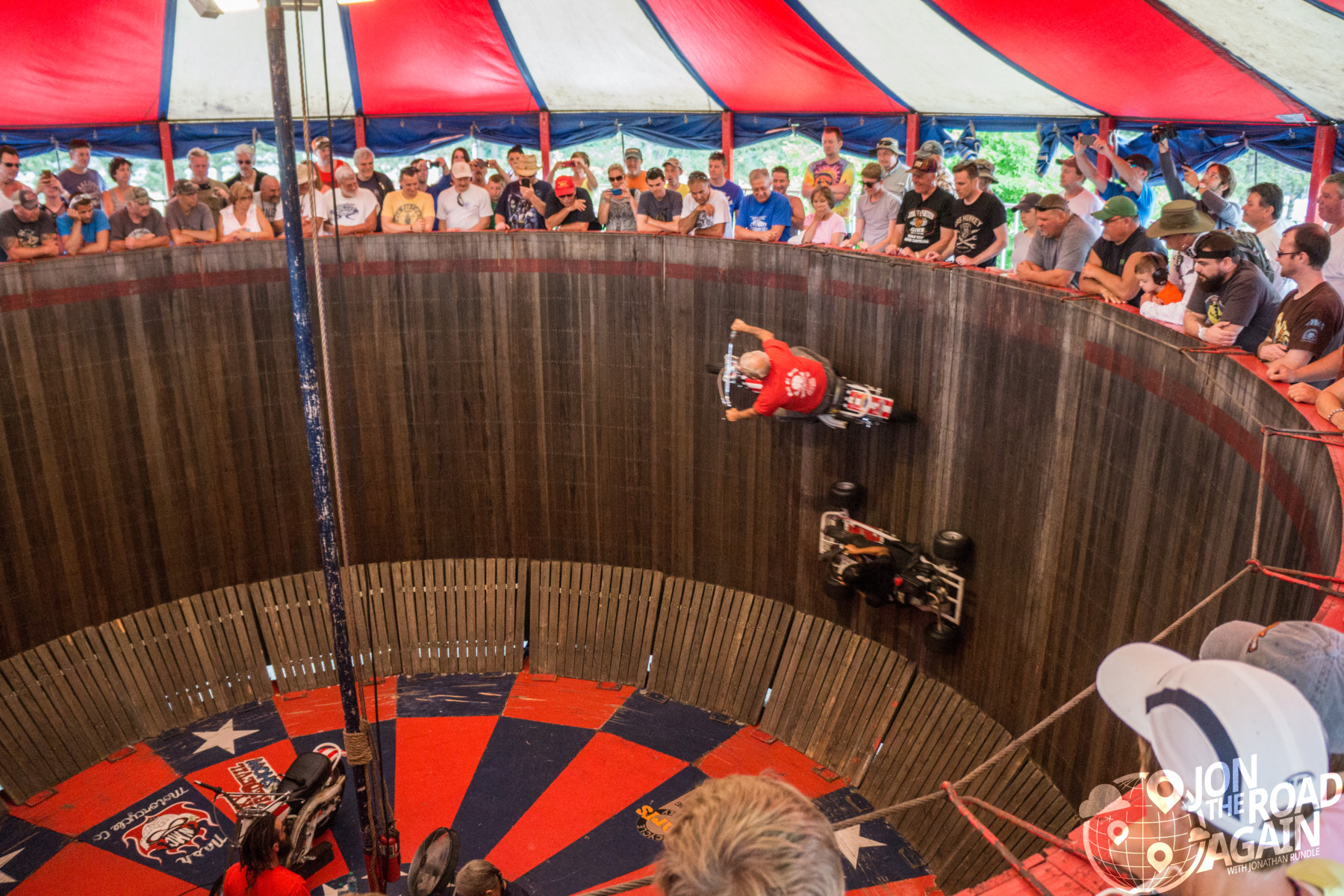 Motorcycle Wall of Death at Vintage motorcycle days