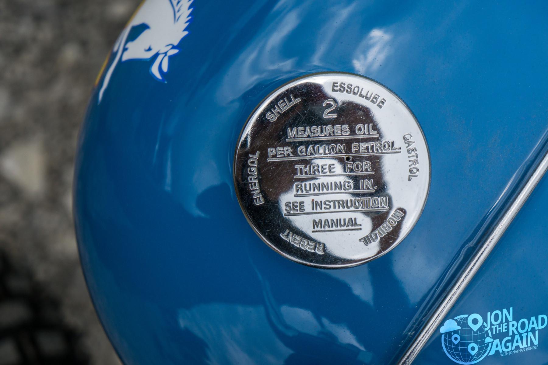 Gas tank at Vintage Motorcycle Days