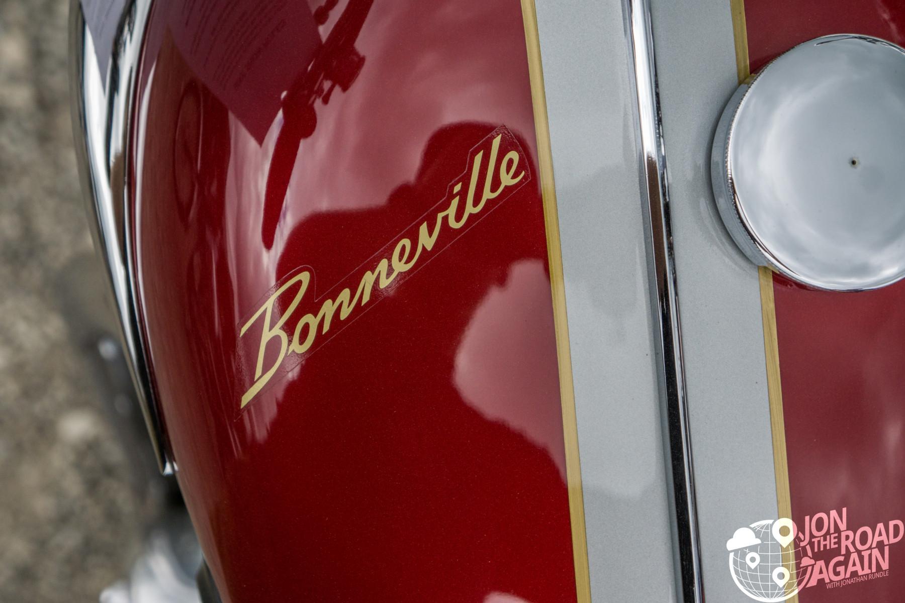 Triumph Bonneville gas tank at AMA Vintage Motorcycle Days