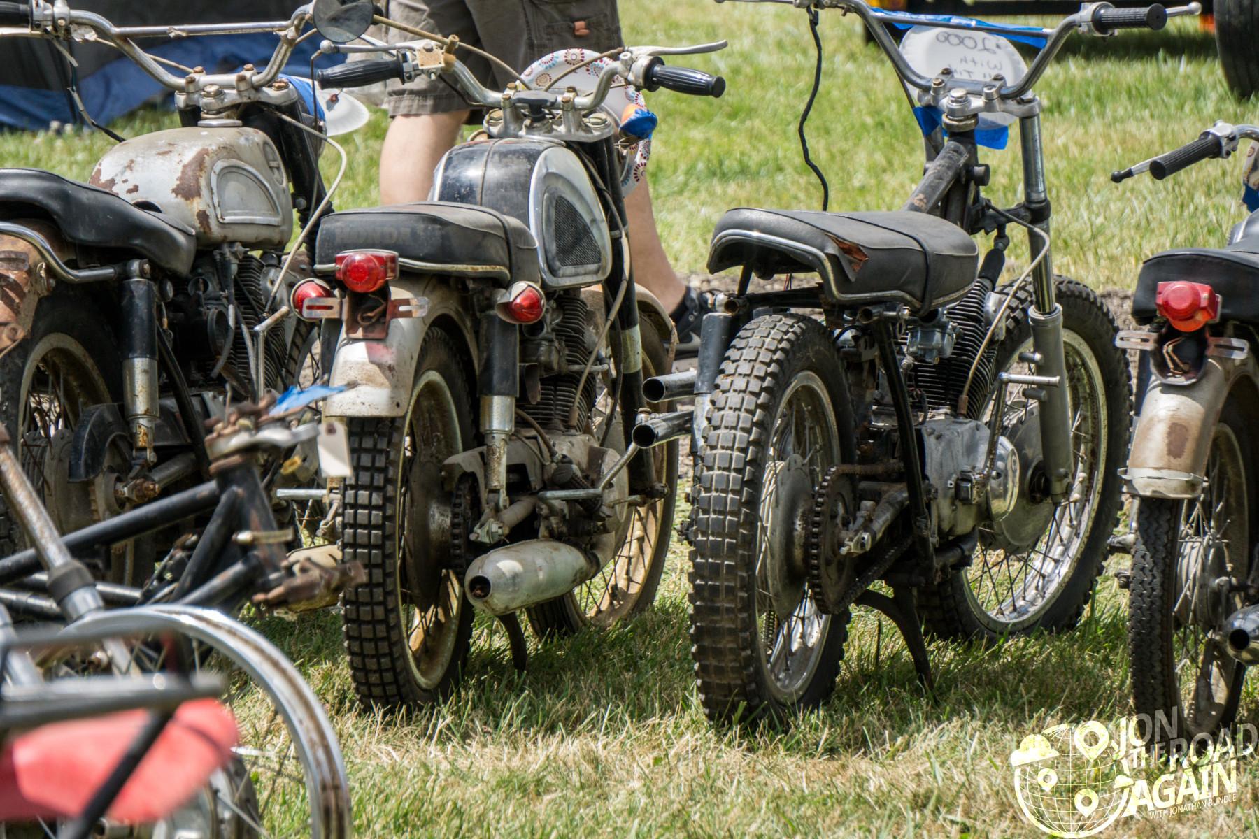 Motorcycle swap meet at AMA Vintage Motorcycle Days