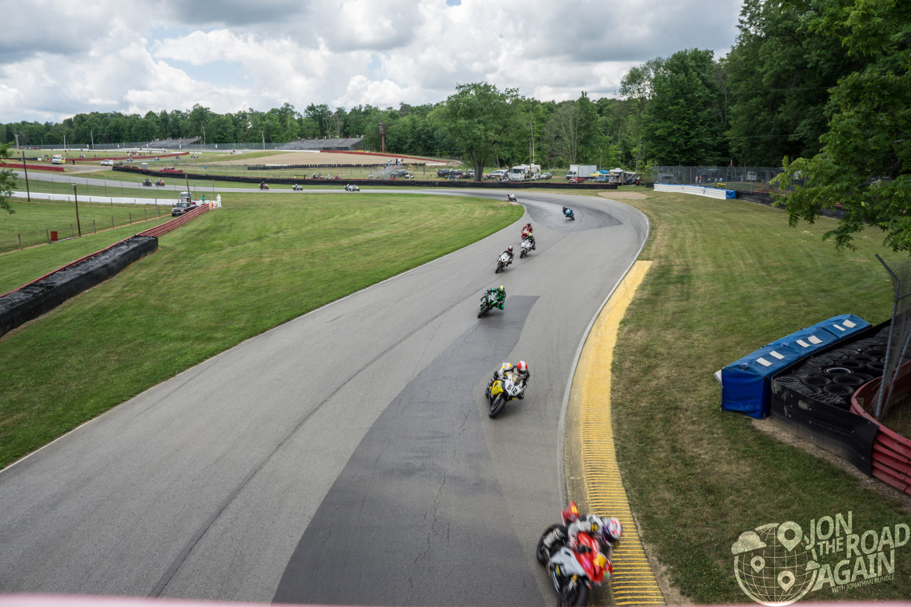 Motorcycle racing at mid-ohio at AMA Vintage Motorcycle Days