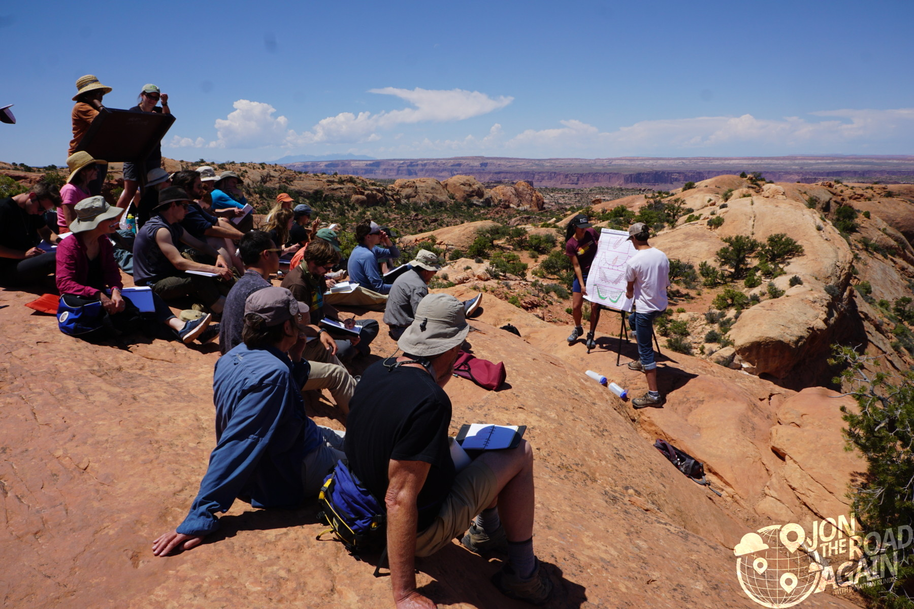 Class taught at Upheaval Dome