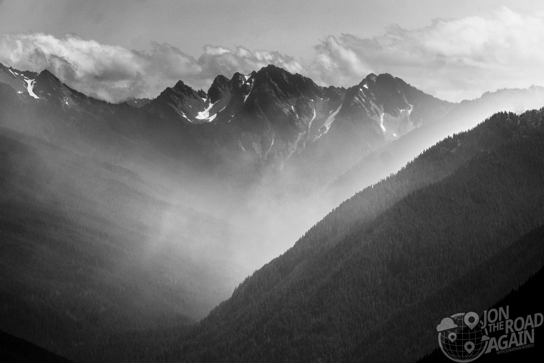 Hurricane Ridge black and white