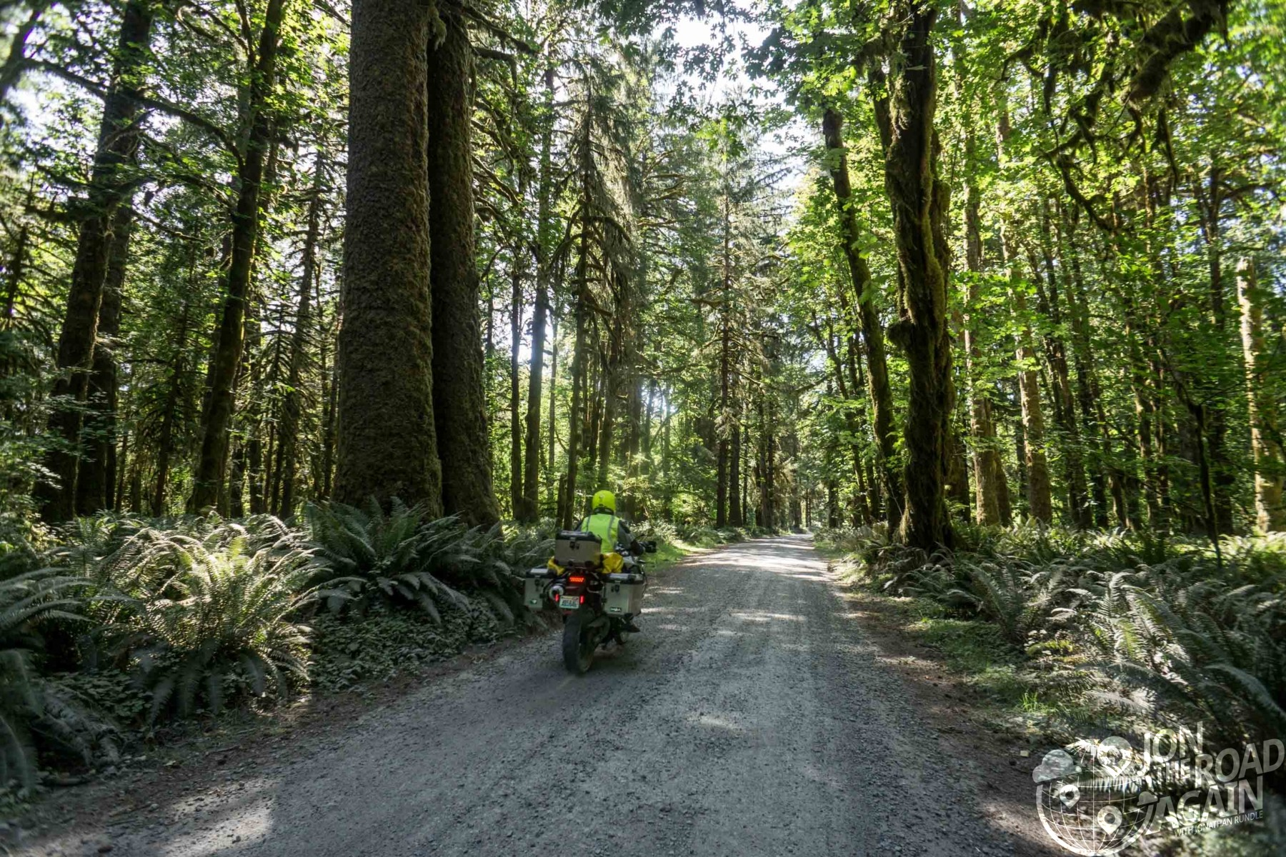 Riding the roads around lake quinault