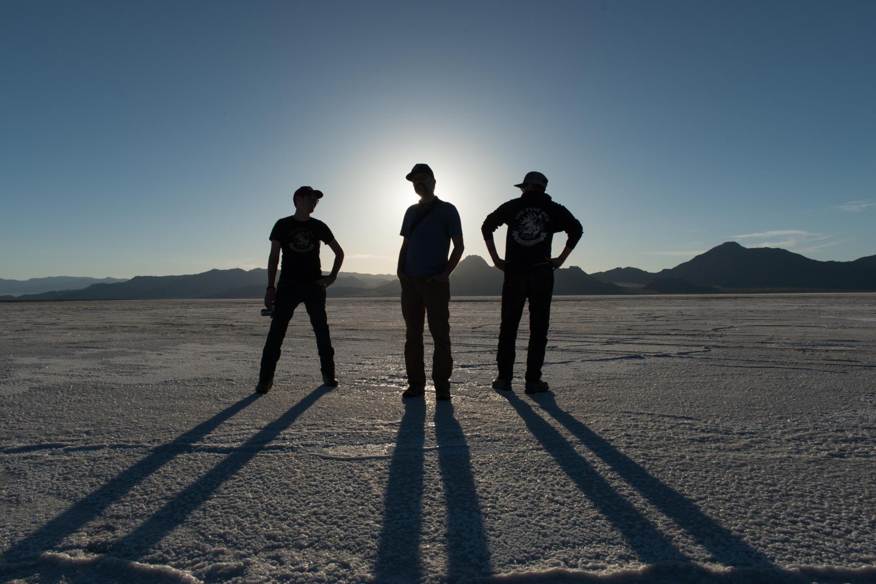 Photos on the Bonneville Salt Flats