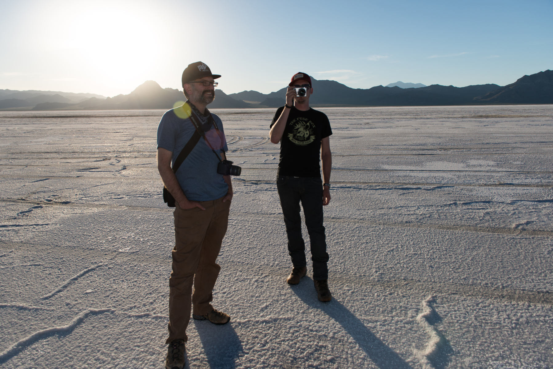Photos on the Bonneville Salt Flats