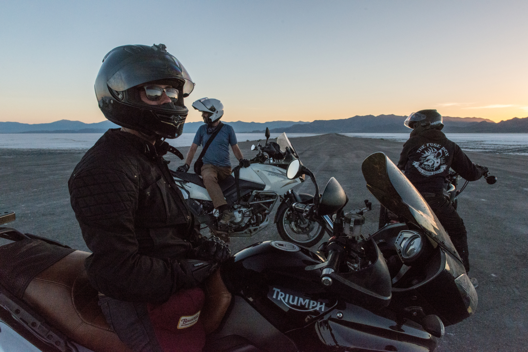 Riding the Bonneville Salt Flats