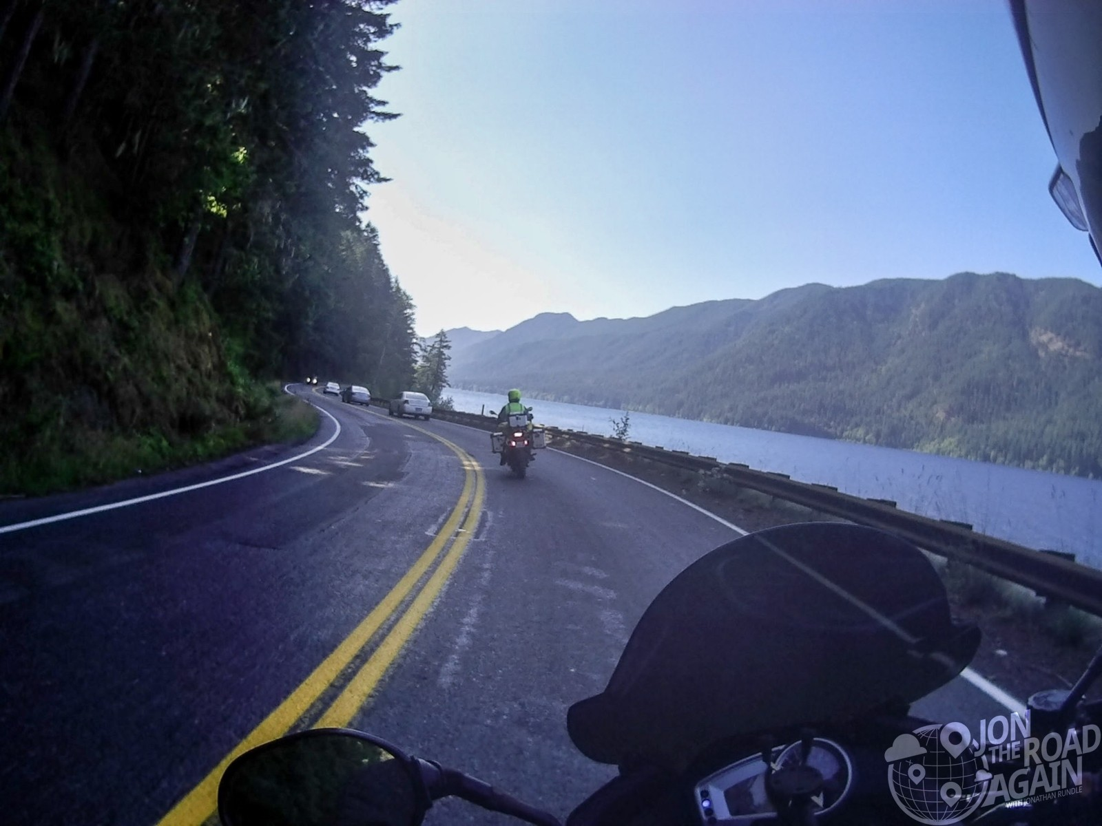 Lake Crescent by motorcycle