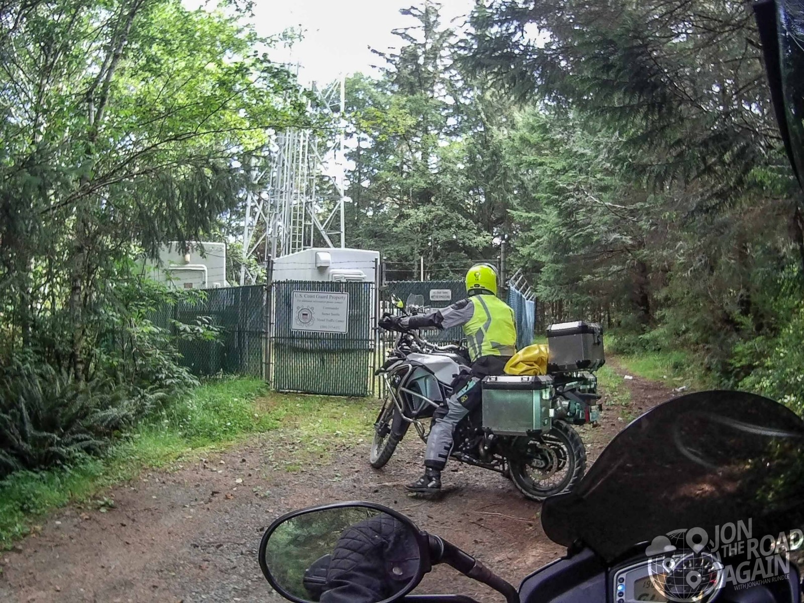 Riding motorcycles on Olympic Peninsula