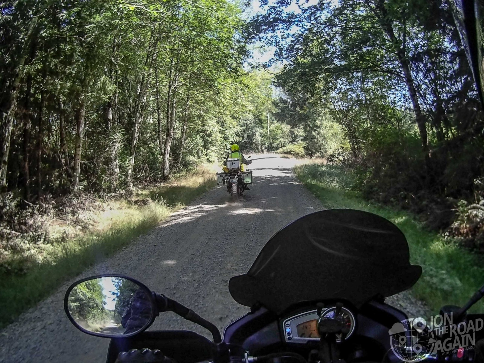 Riding off-road motorcycles on Olympic Peninsula