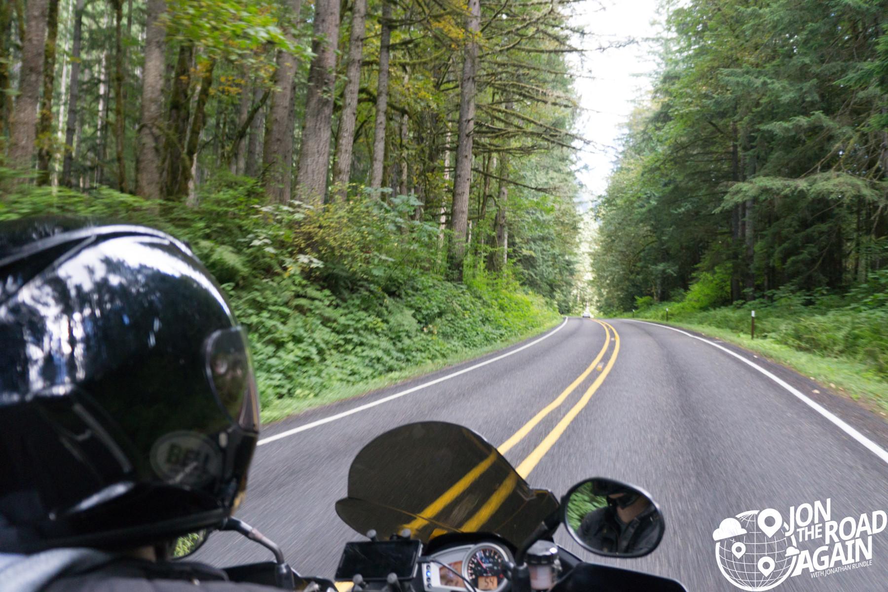 Riding Mount Baker Highway