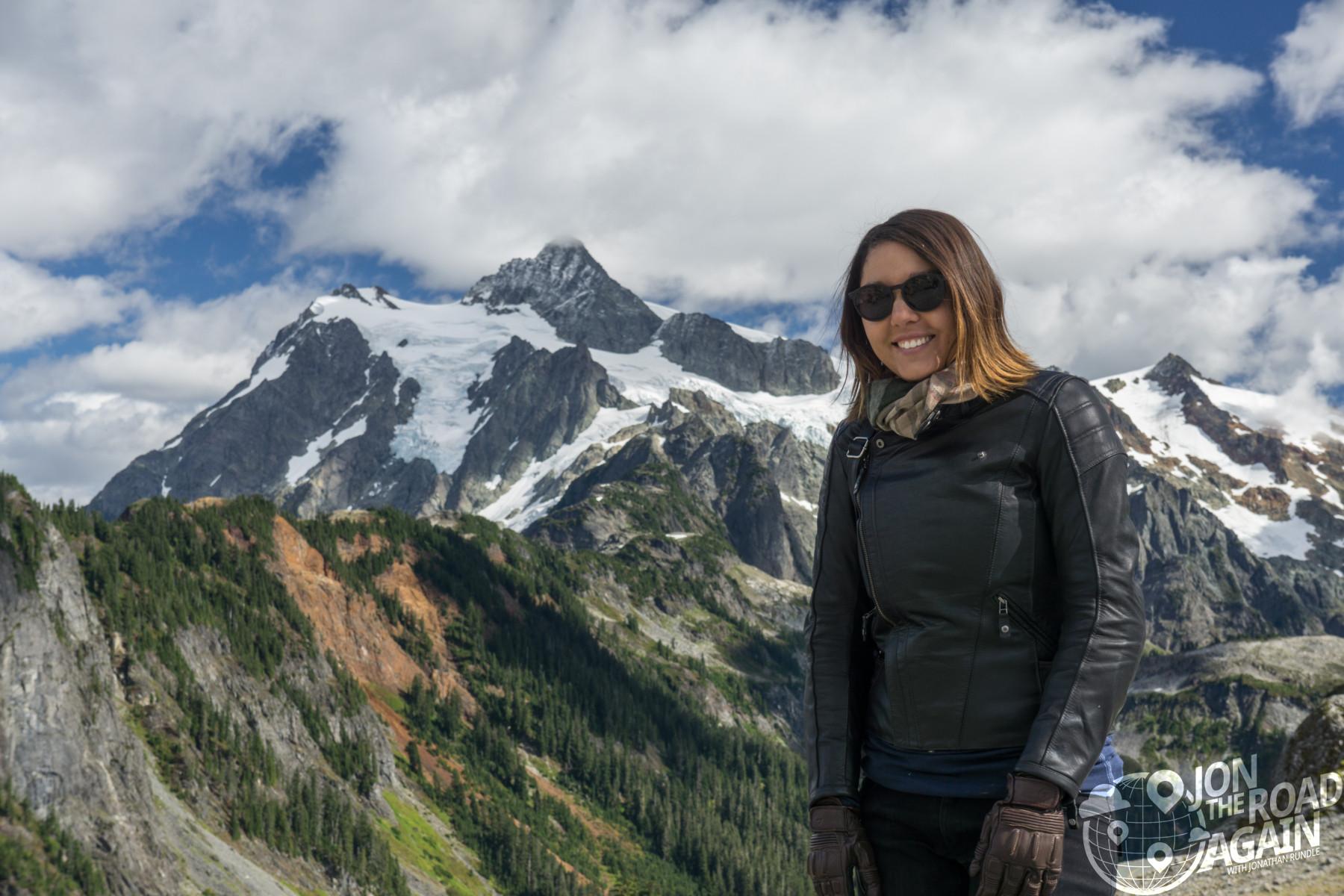 Whitney with Mount Shuksan