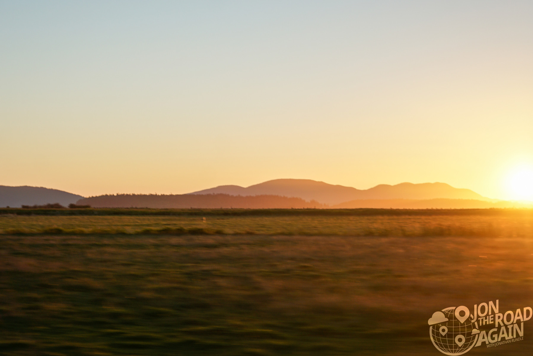 sunset in skagit county