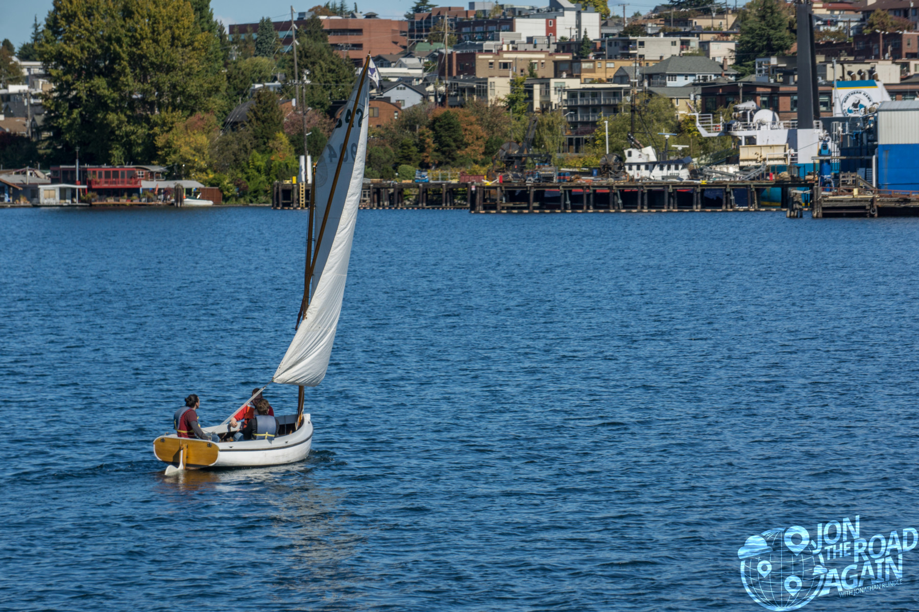Center for Wooden Boats sail boat on Lake Union
