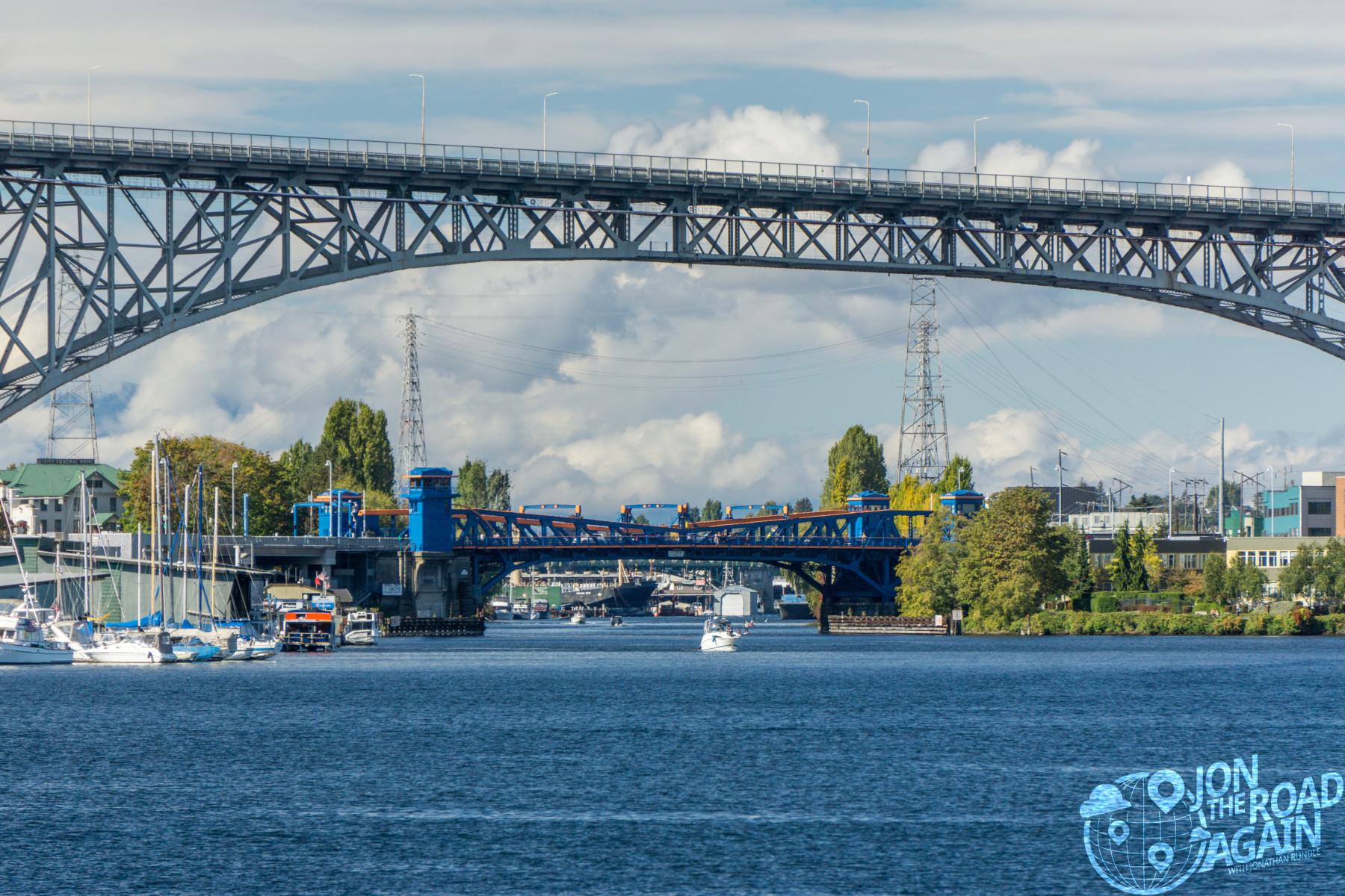 George Washington Bride and Fremont Bridge from Lake Union
