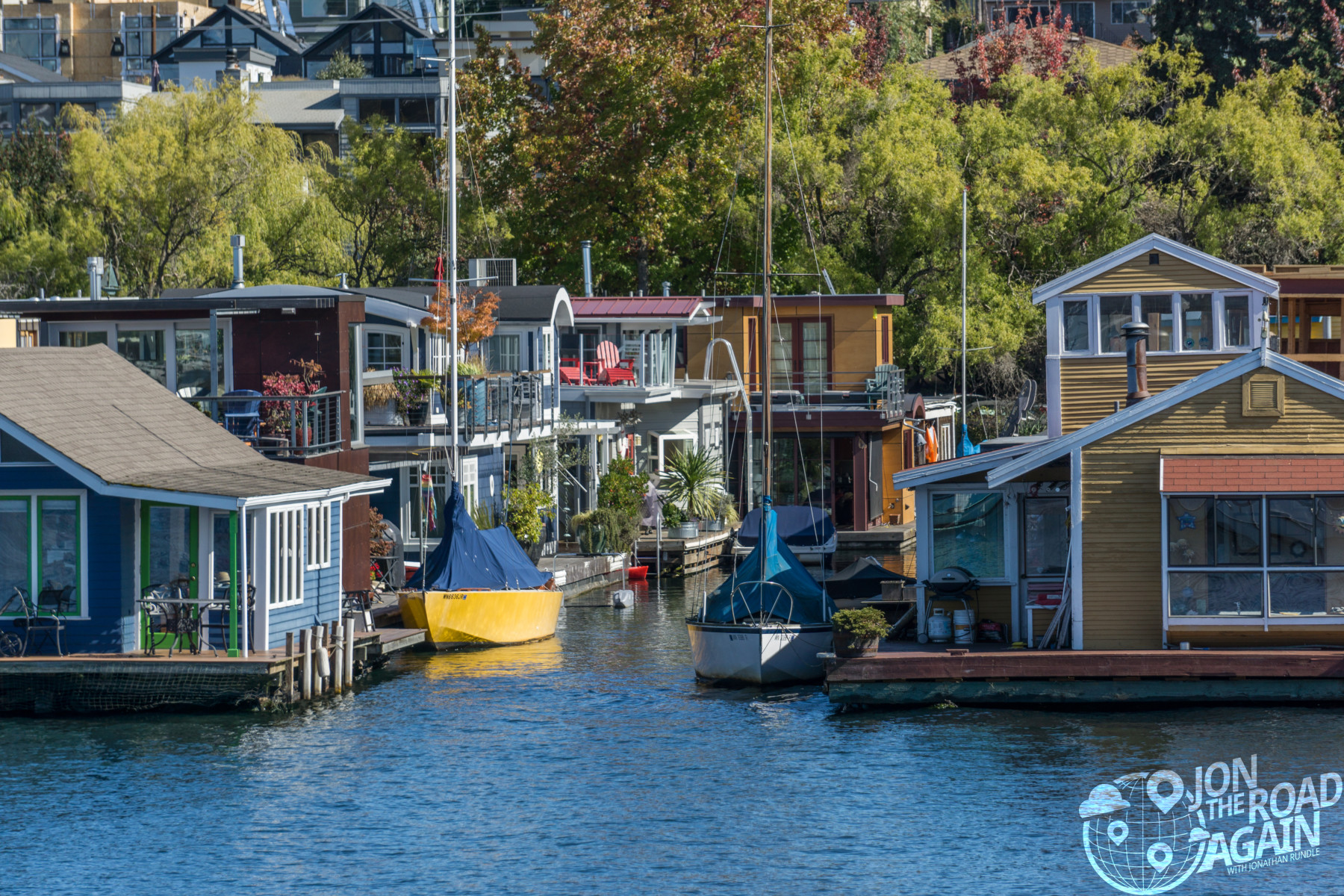 Lake Union Houseboats in Seattle