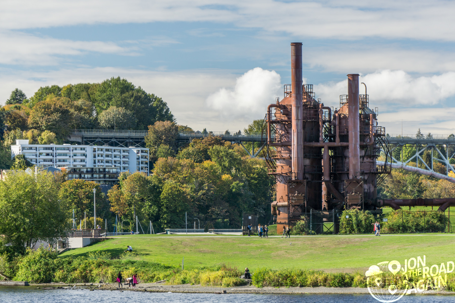Gas works park from Lake Union