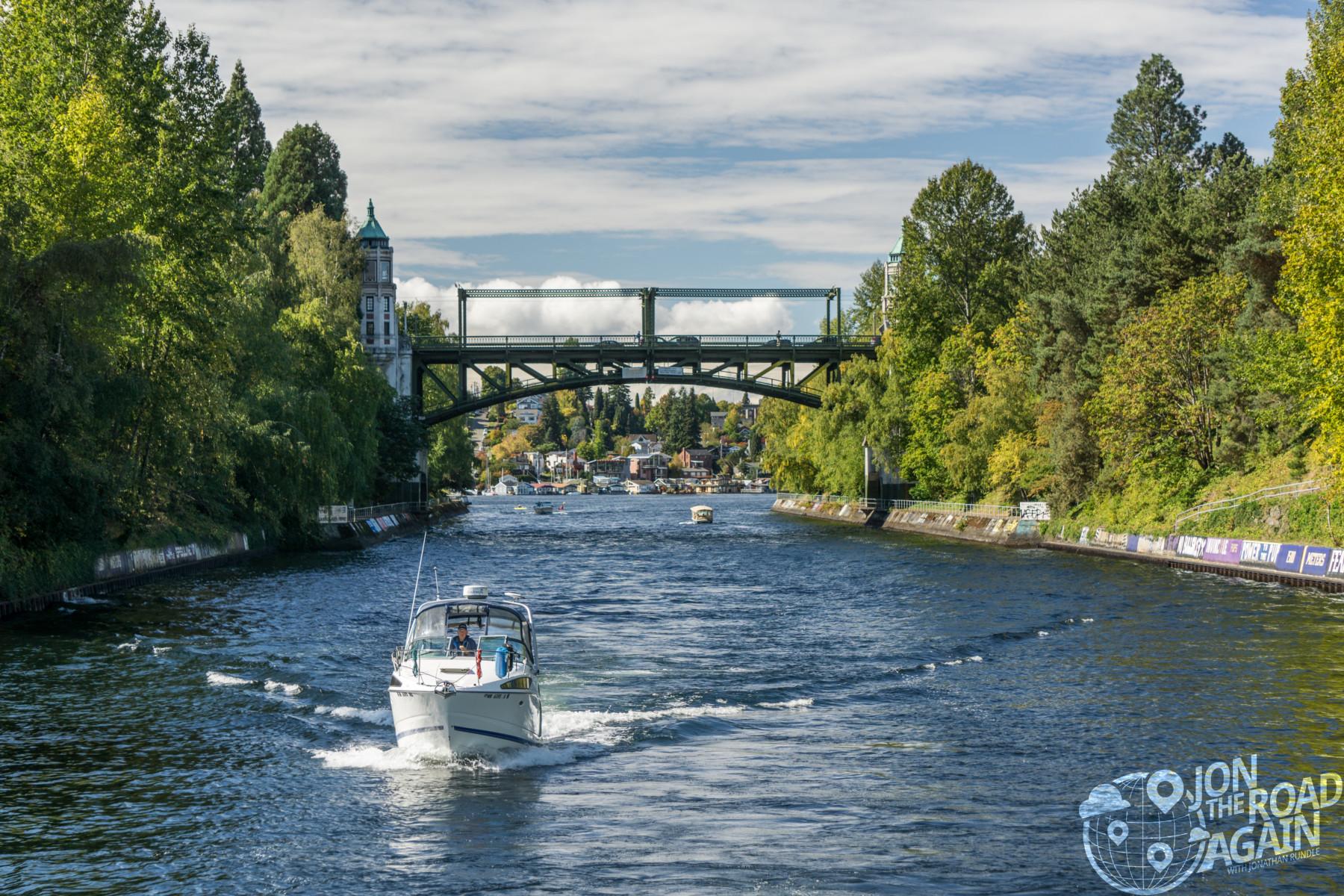 University bridge and montlake cut in Seattle