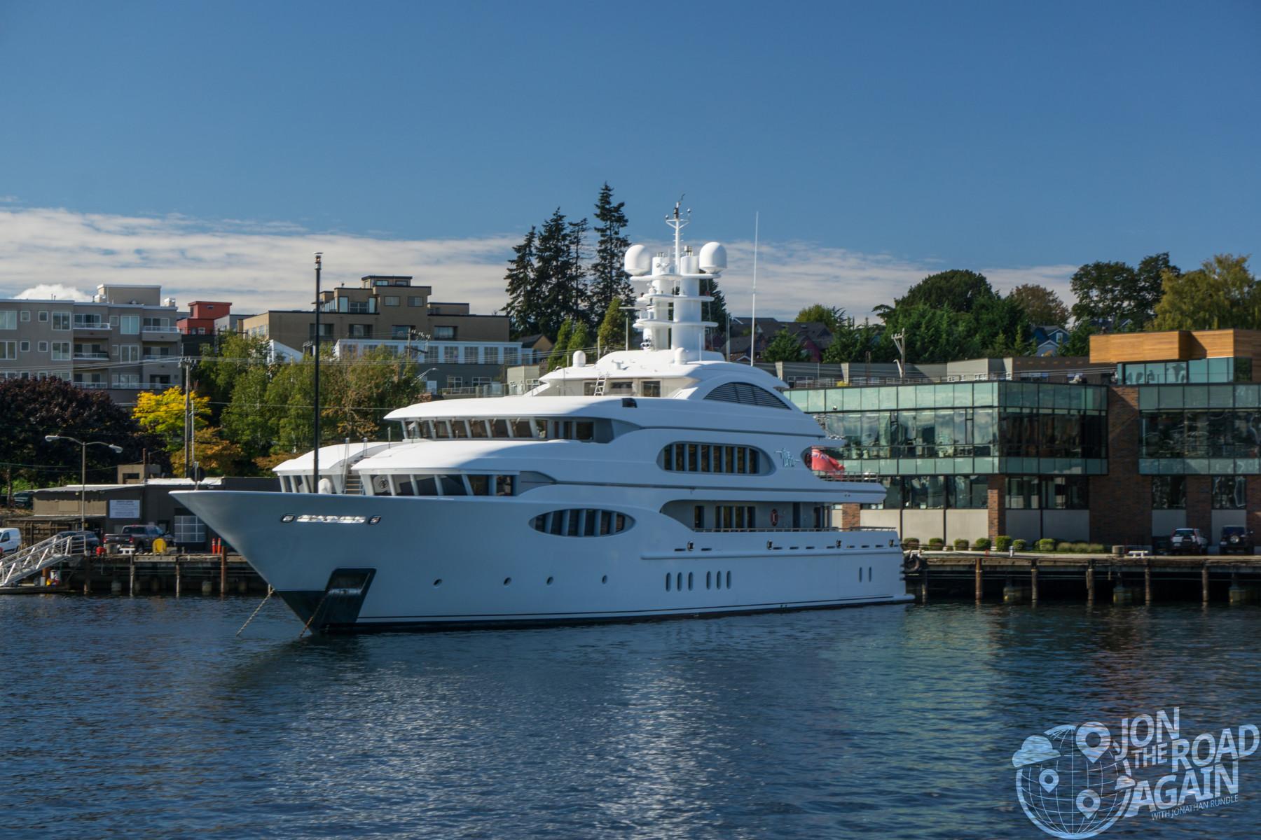 Mega Yacht in South Lake Union