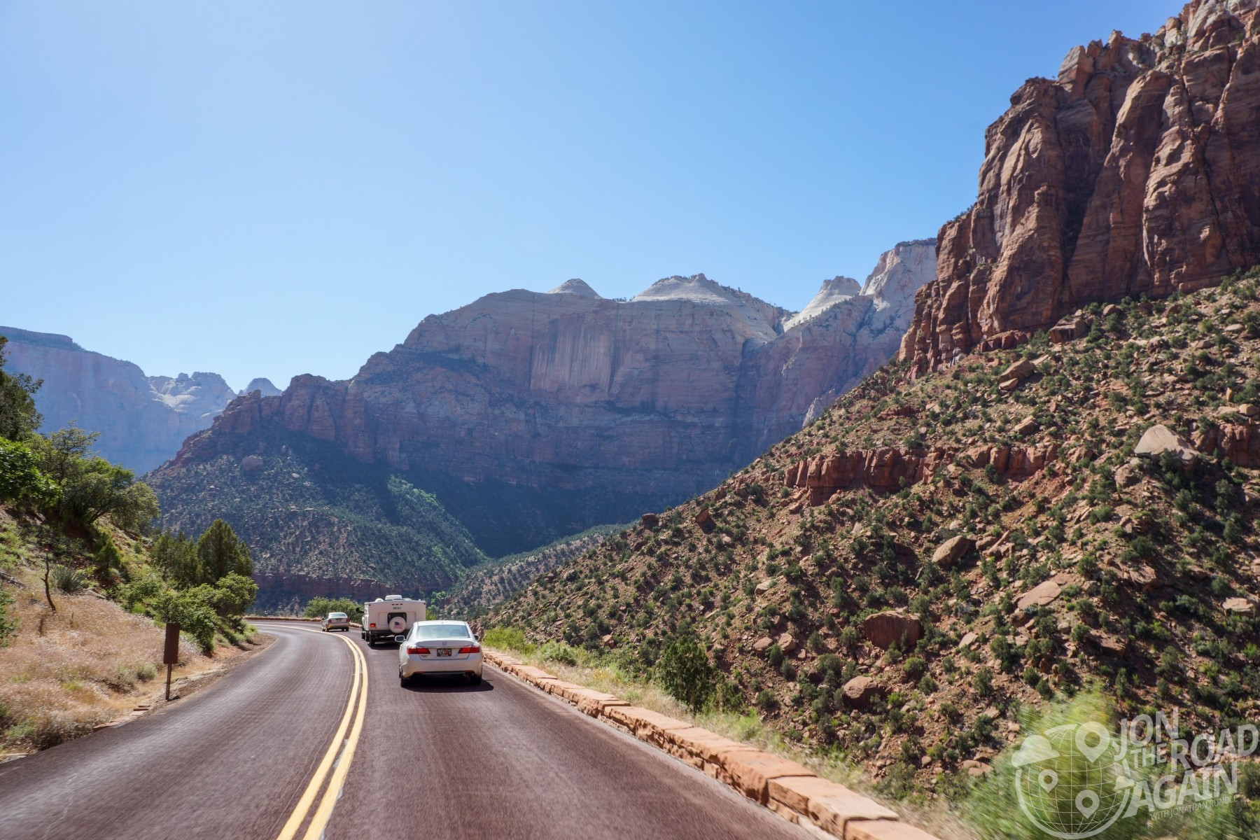 Riding into Zion National Park