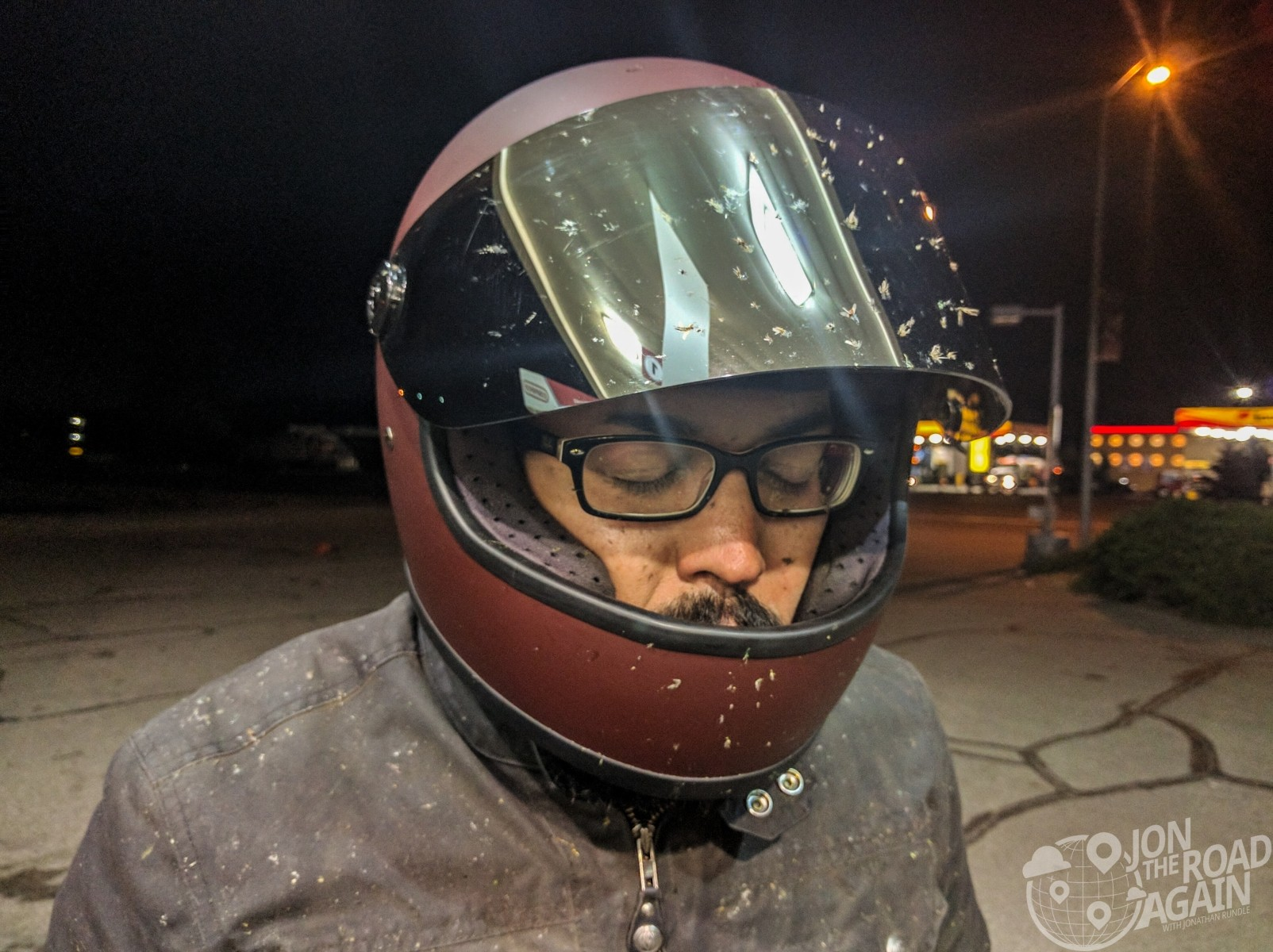 Night riding was not kind to Michael
