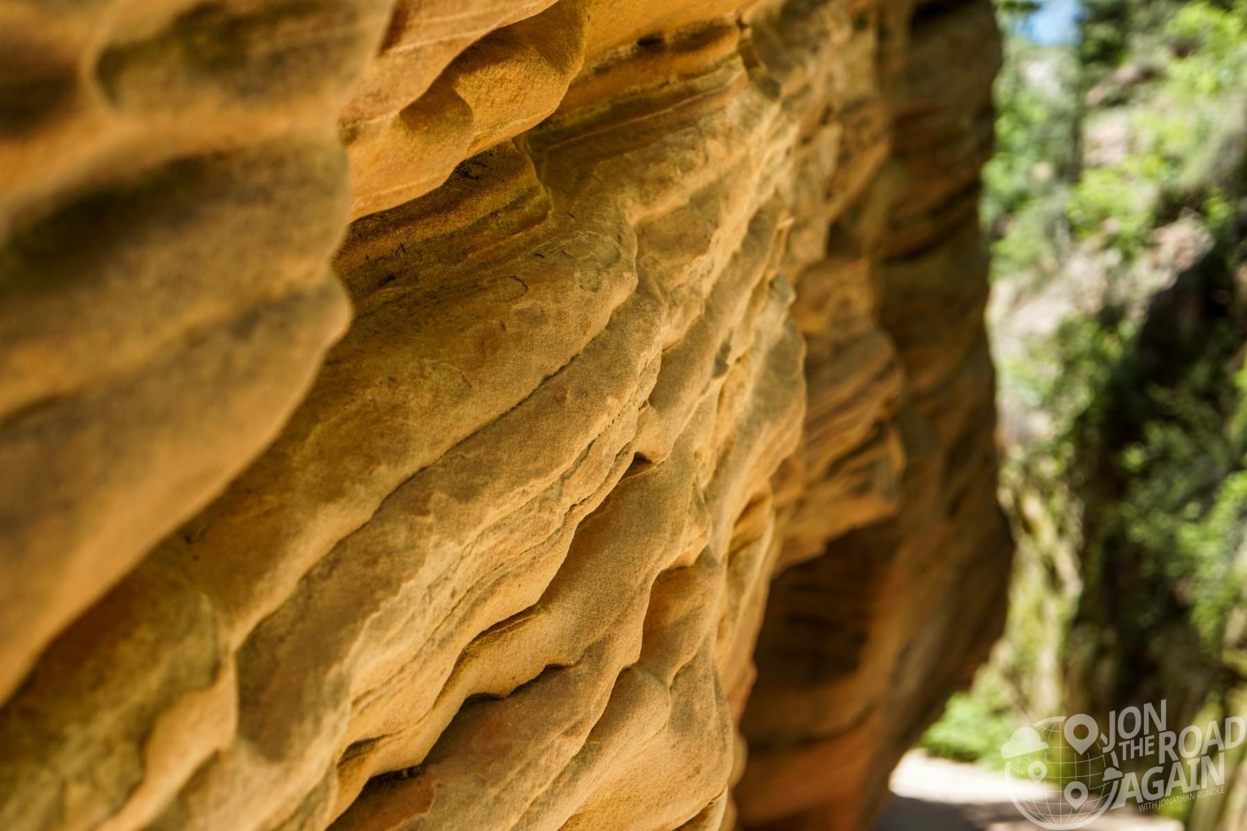 Hidden Canyon Zion Rock Wall