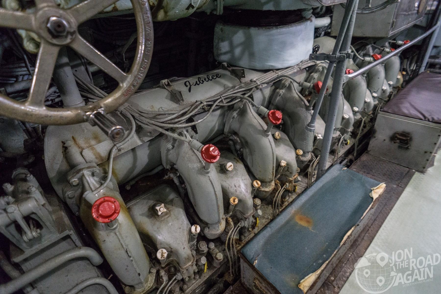 USS Clamagore Submarine Engine Room