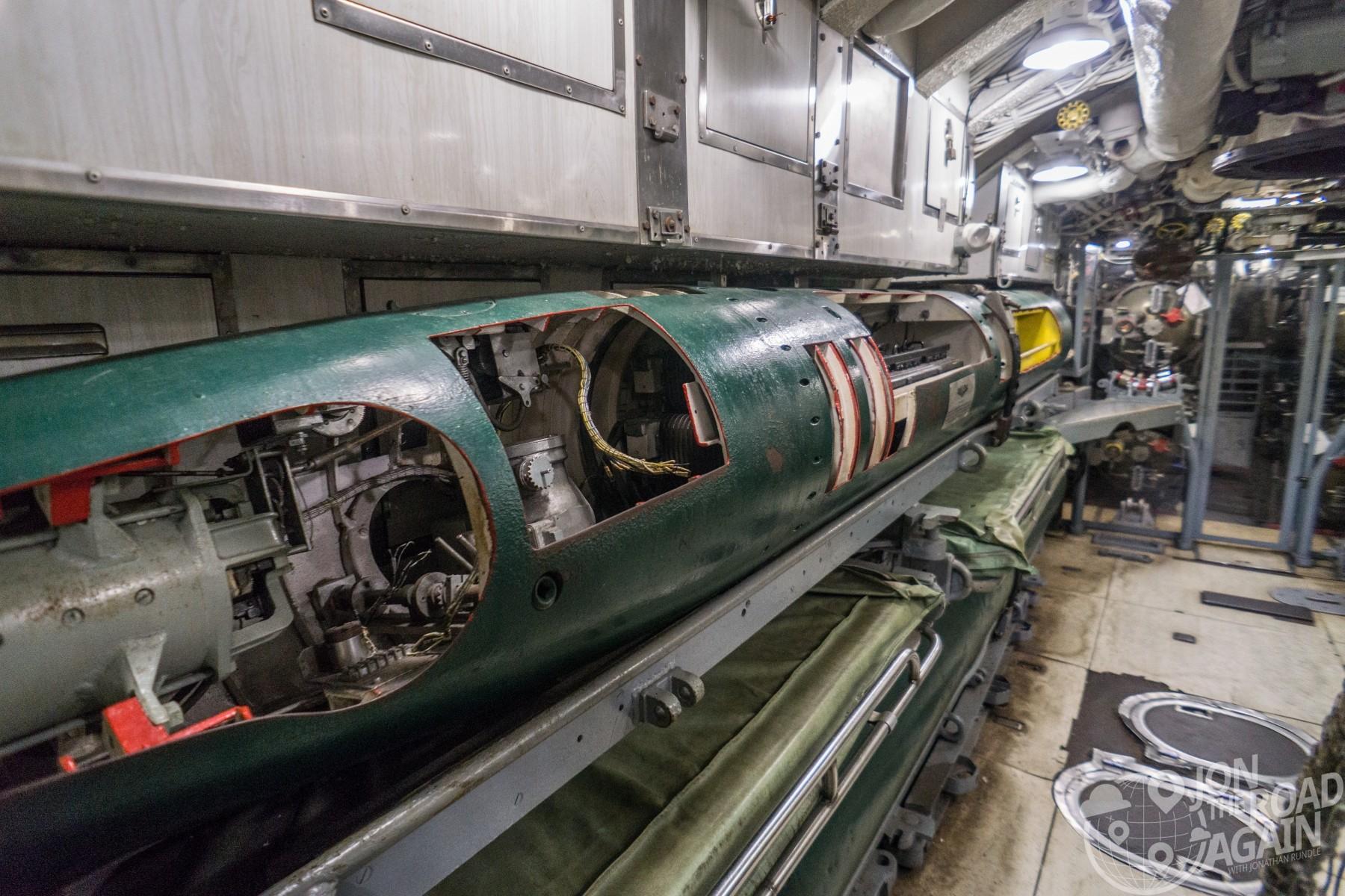 USS Clamagore Submarine Torpedo Room