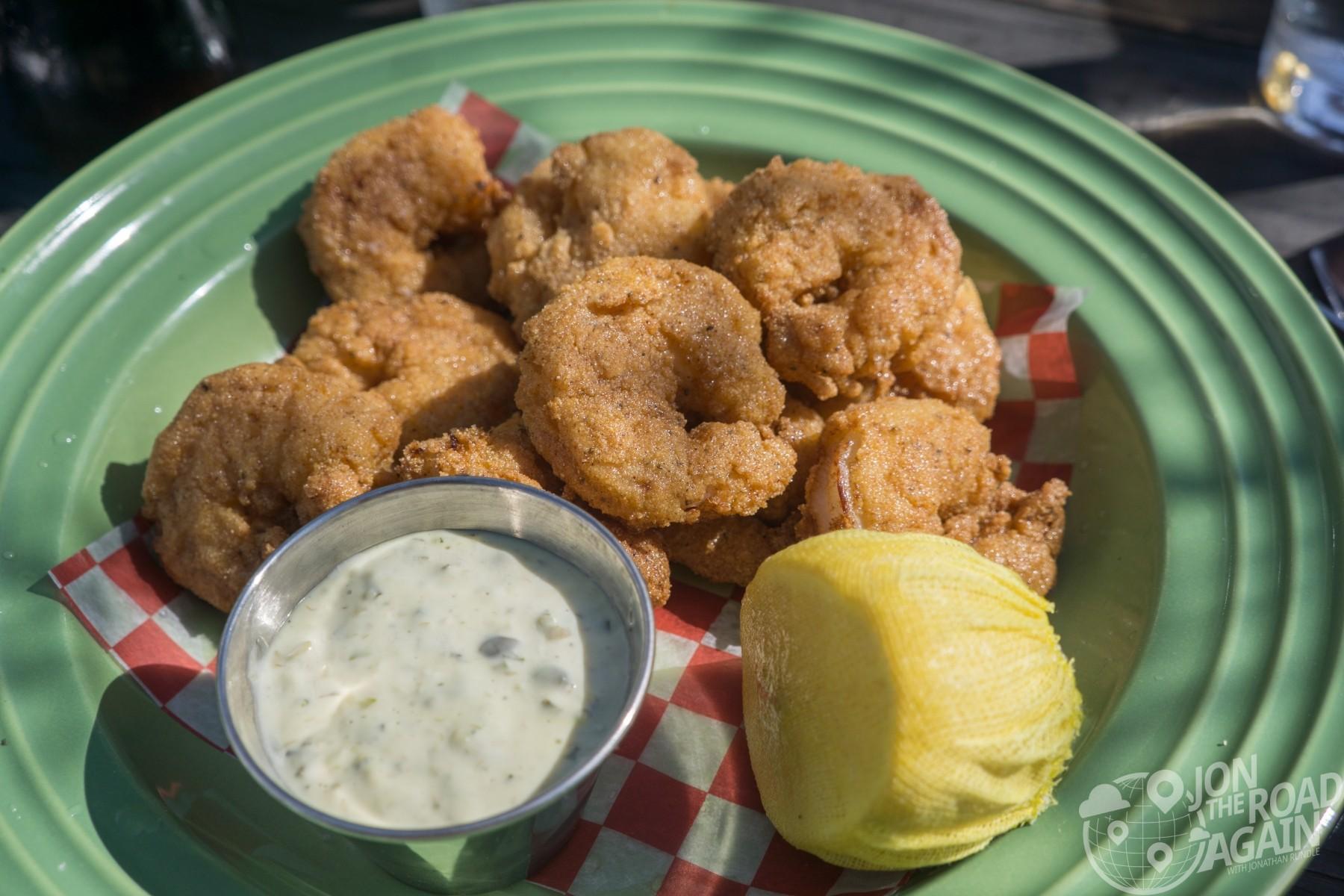 Fried shrimp at Leon's in Charleston, SC