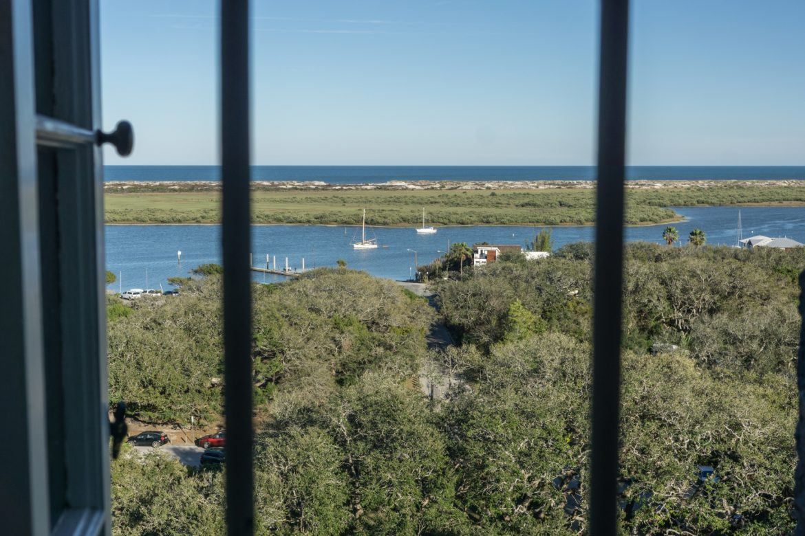 View from middle of St. Augustine Lighthouse