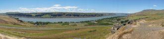 Columbia river from stonehenge panorama