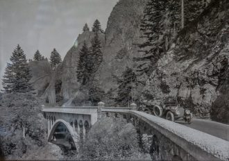 Sam Hill old photo Columbia river highway