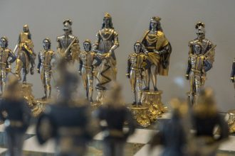 Chess sets at Maryhill Museum of Art