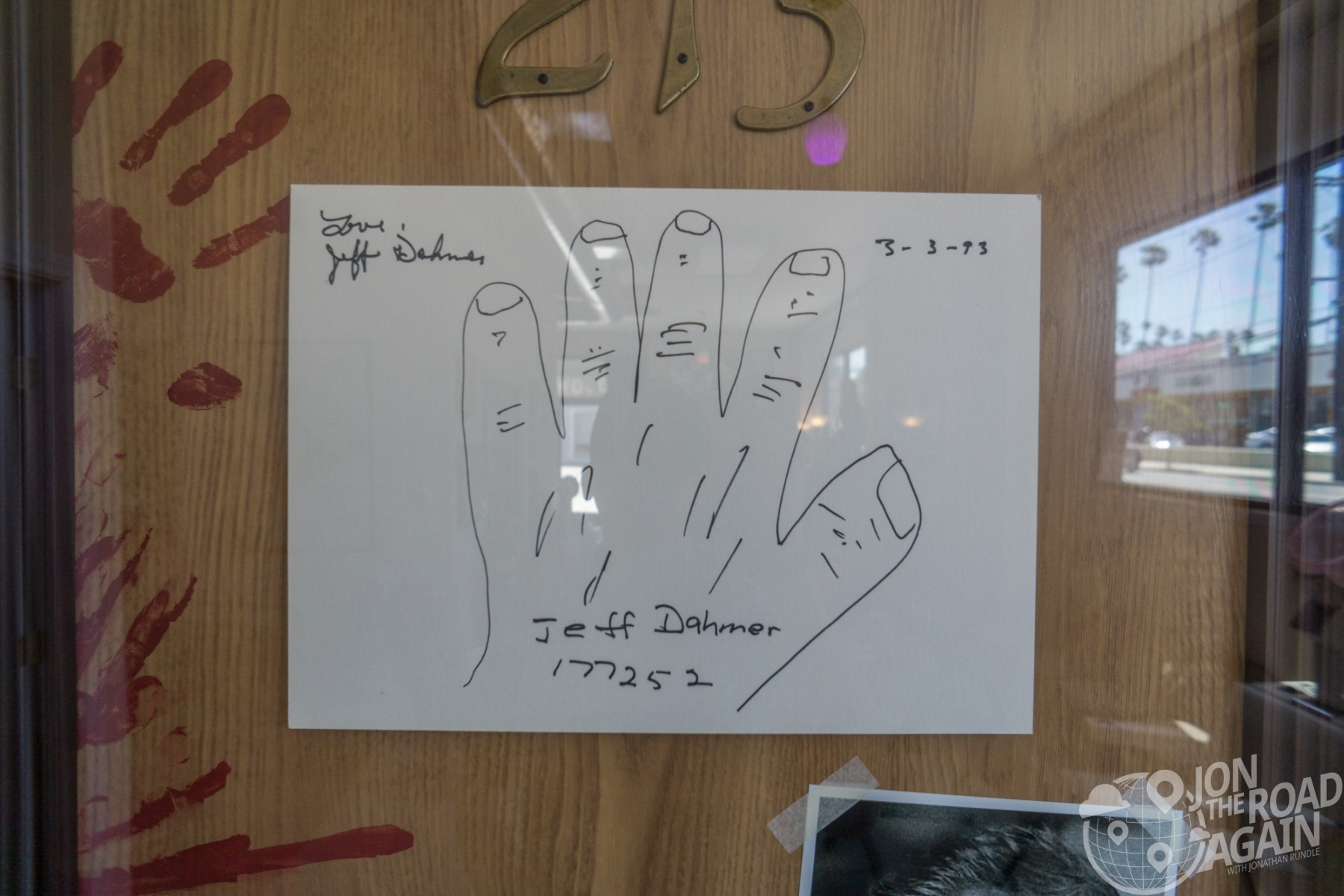 Jeffrey Dahmer prison note drawing