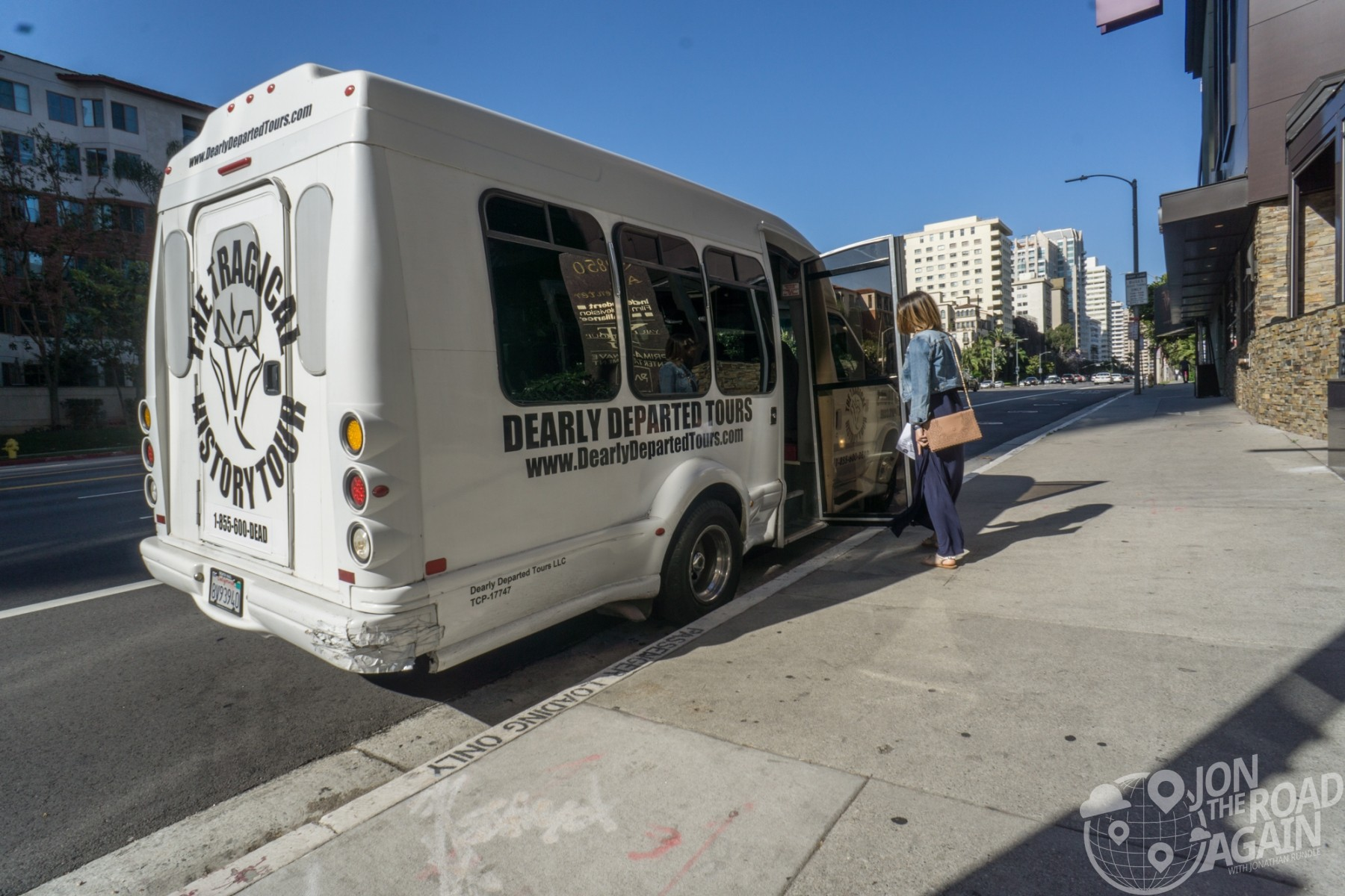 Dearly Departed Tours bus