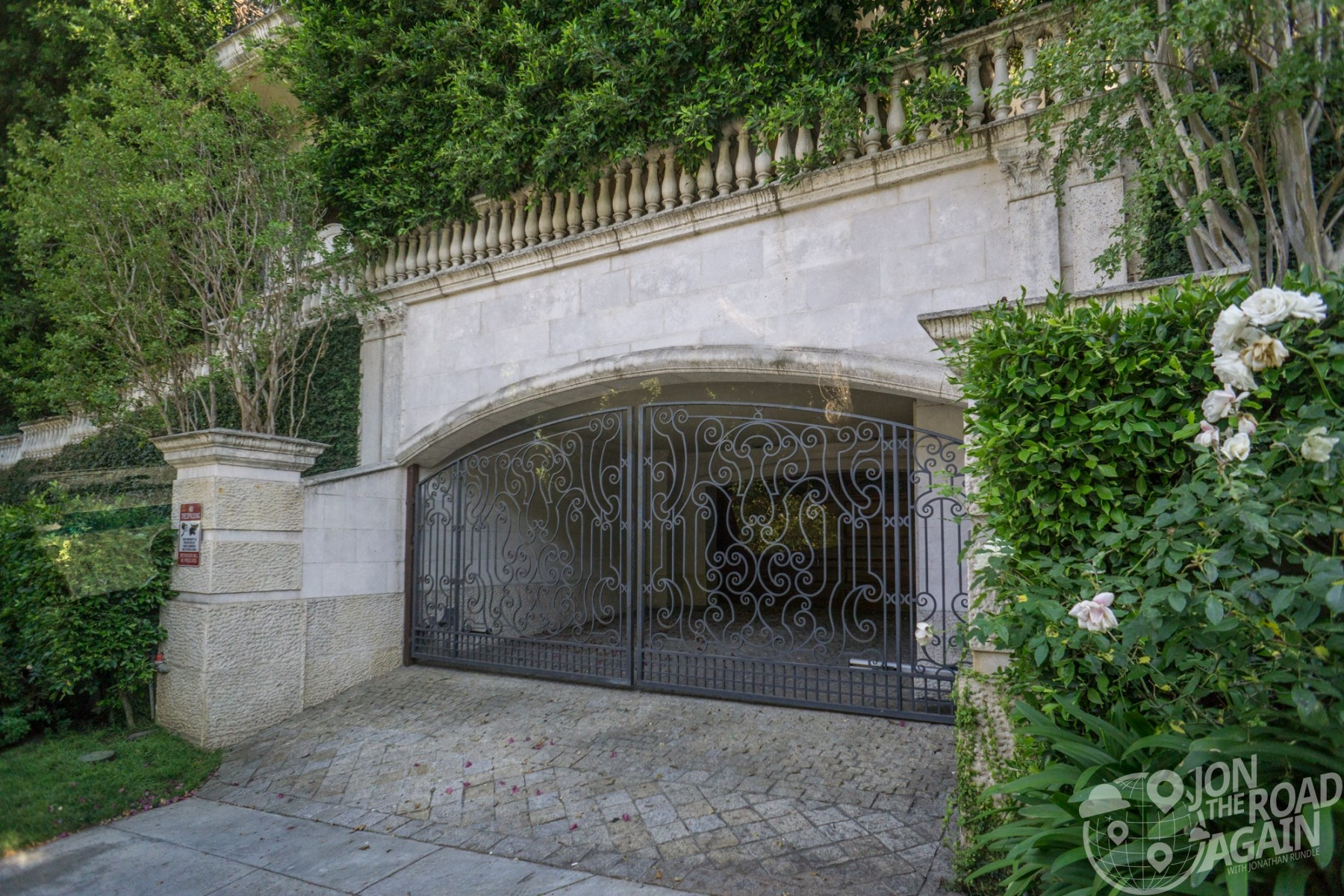 Michael Jackson's home garage entrance