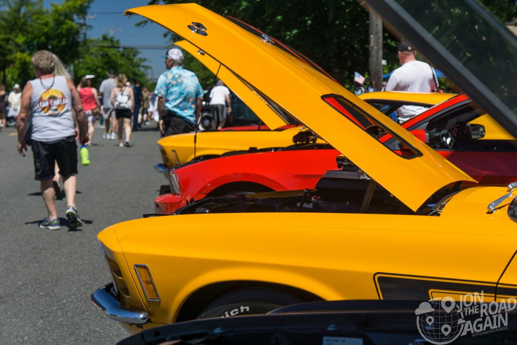 Greenwood Car Show Mustangs
